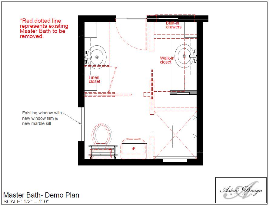 Master Bath demo plan