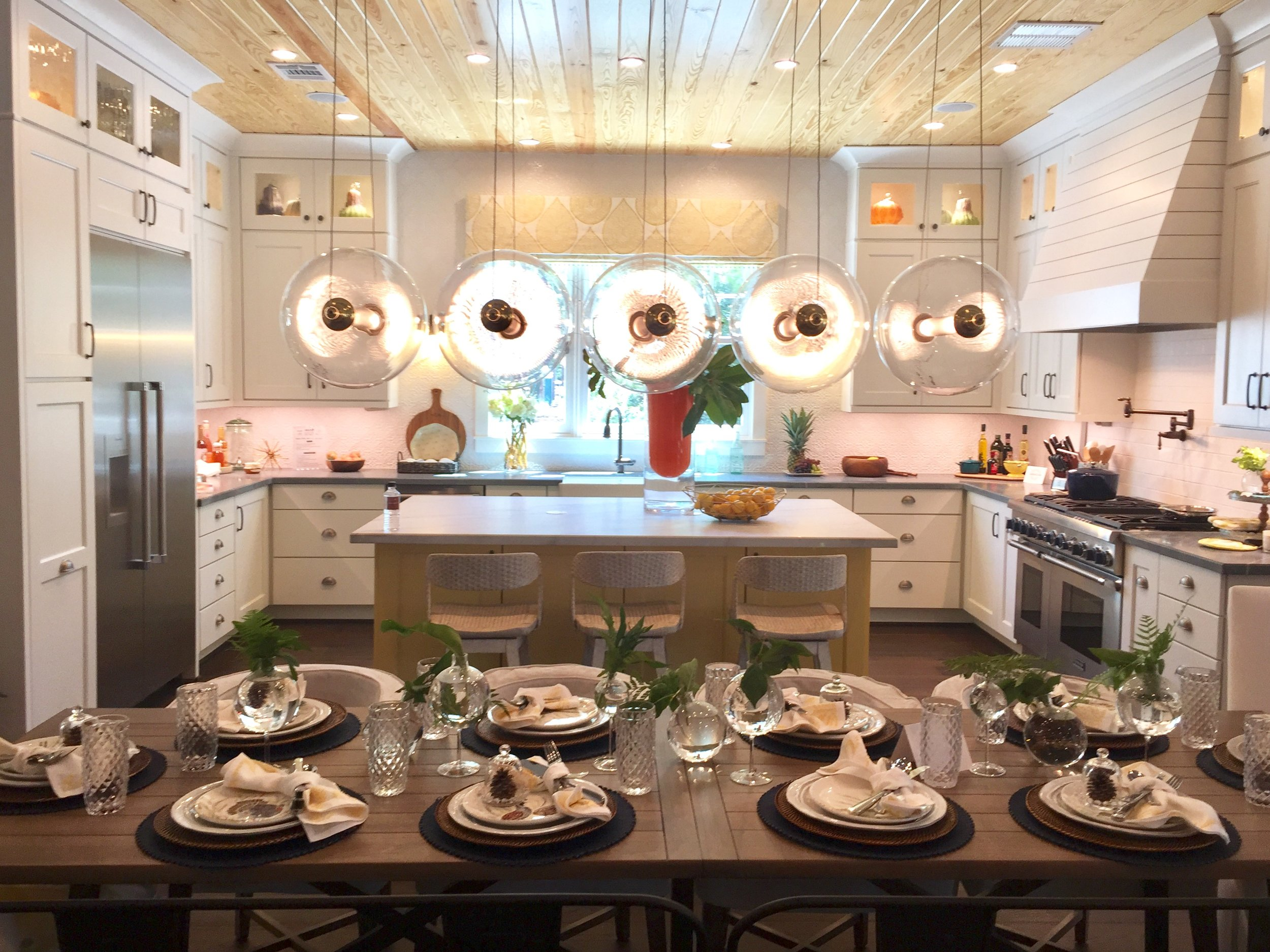 Southern Living Showcase Home - Kitchen and breakfast room, Designed by Chairma Design Group