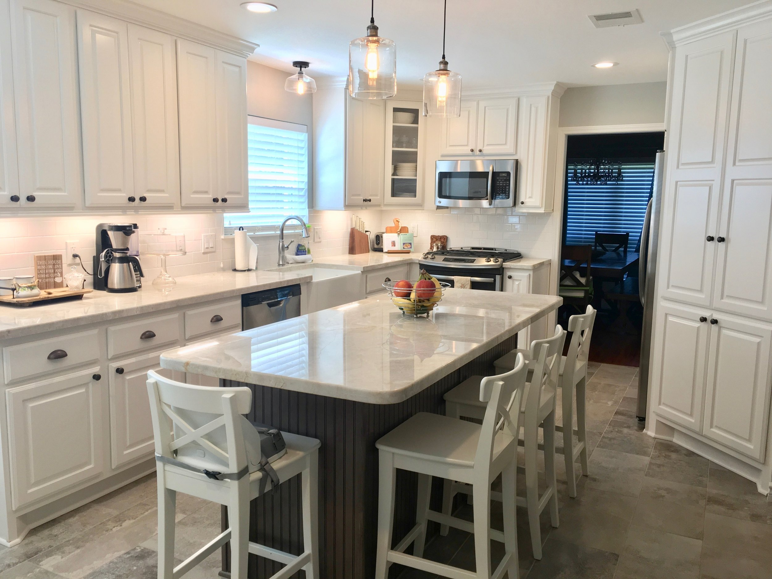 After - Kitchen Remodel done with tips from Designed in a Click consultation