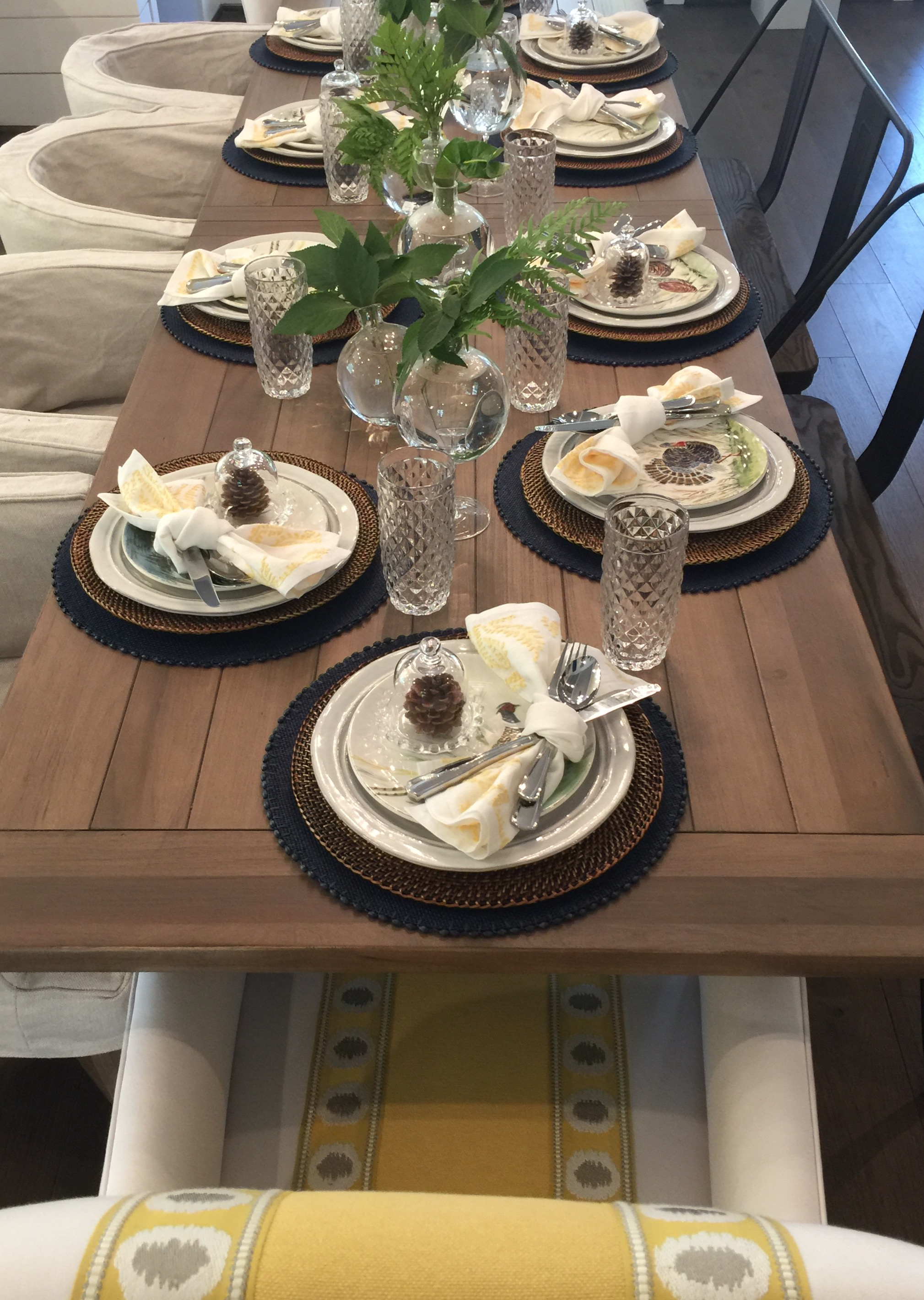 Southern Living Showcase Home Tour - tabletop dining, Designed by Chairma Design Group #entertainingideas