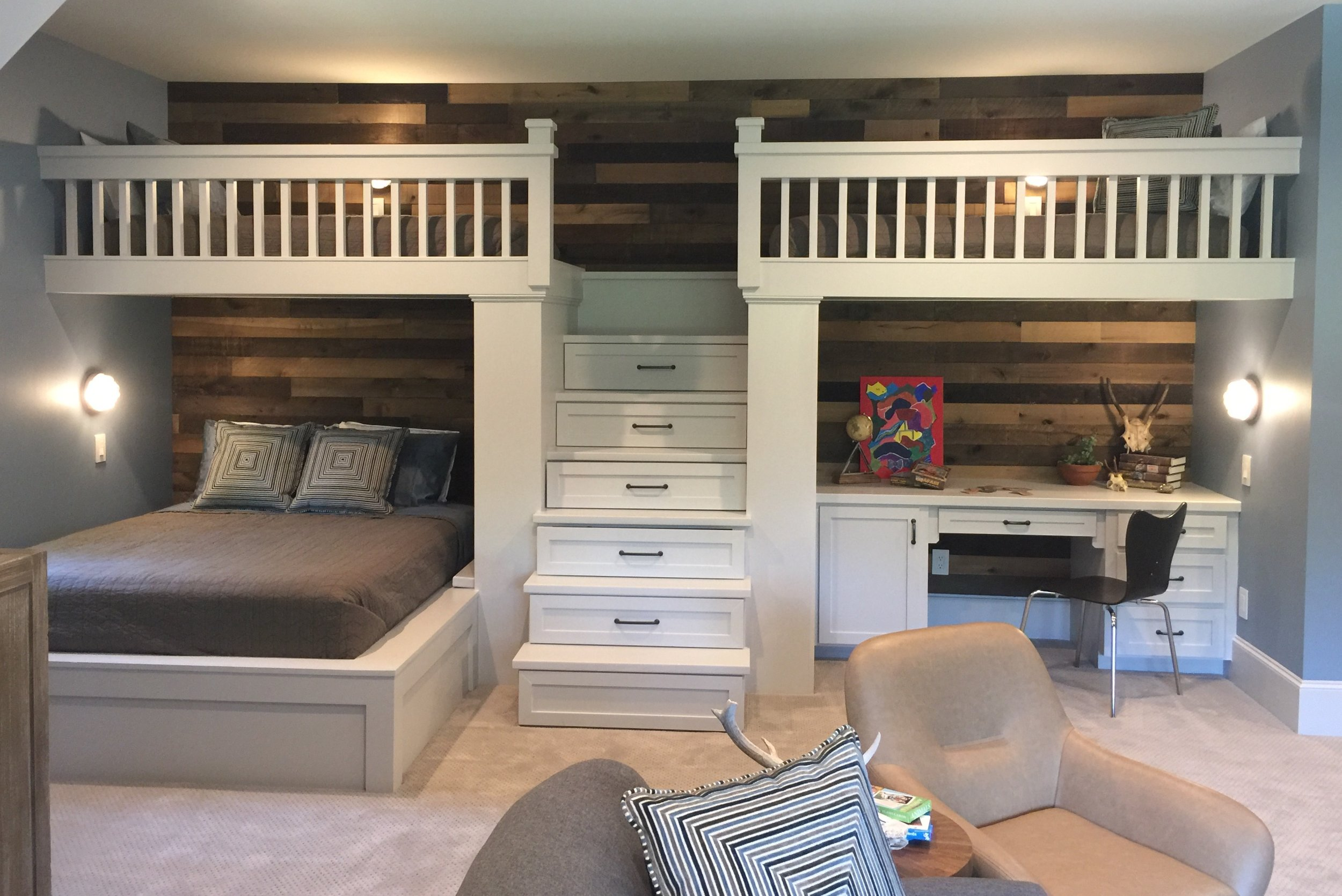 Coolest Bunk Room Ever at the Southern Living Showcase Home in Montgomery, TX, Designed by Chairma Design Group