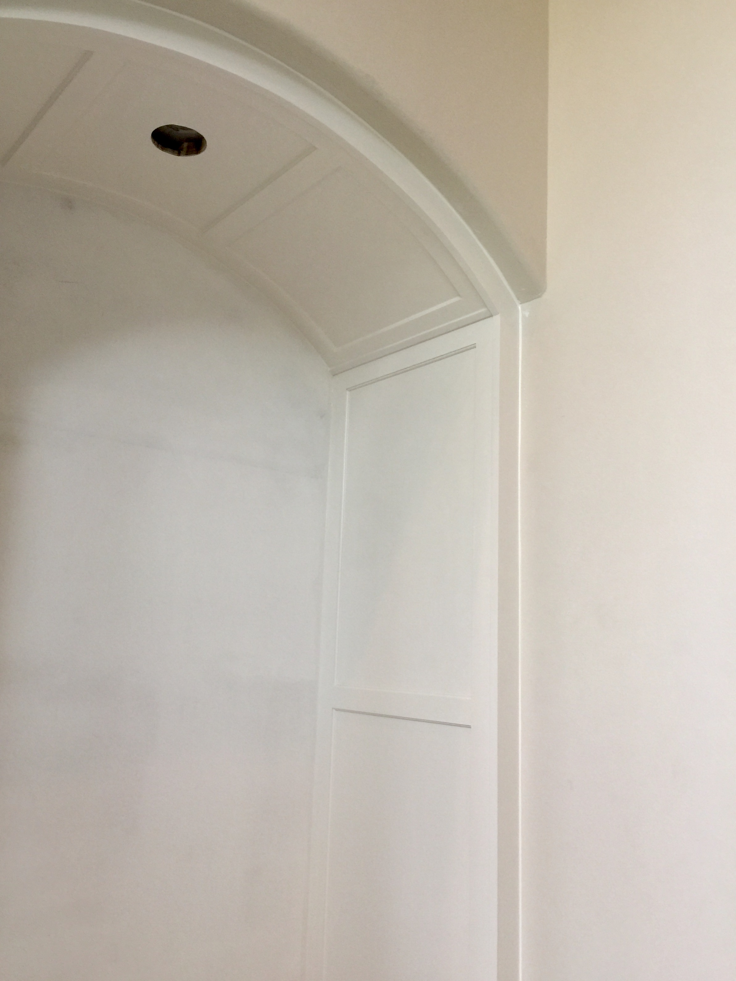 Adding this paneling to the sides of the niches gave these more detail and added quality. #paneling #niche