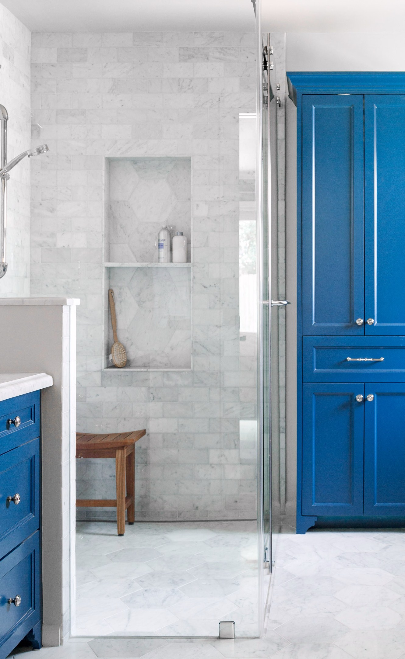 SEE THE FULL REMODEL:    Before and After: A Boutique Hotel Inspired Master Bath Remodel   | Photographer: Tori Aston