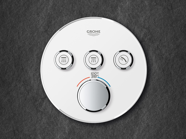 Grohe control valves with push buttons #grohe #kbis2018 #shower