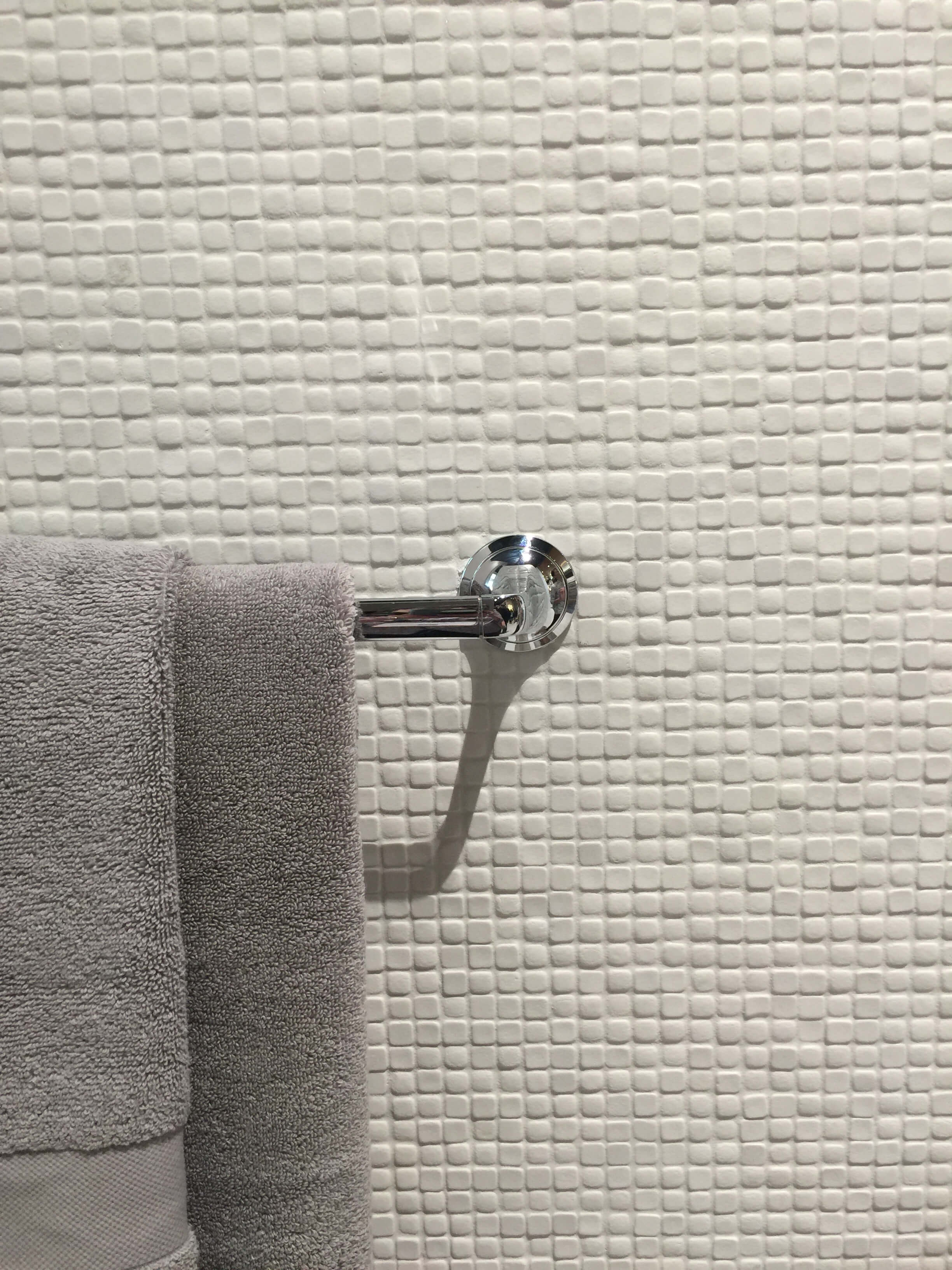 Tiny mosaic tiles for a lovely tone on tone, textured look. #tile #mosaictile