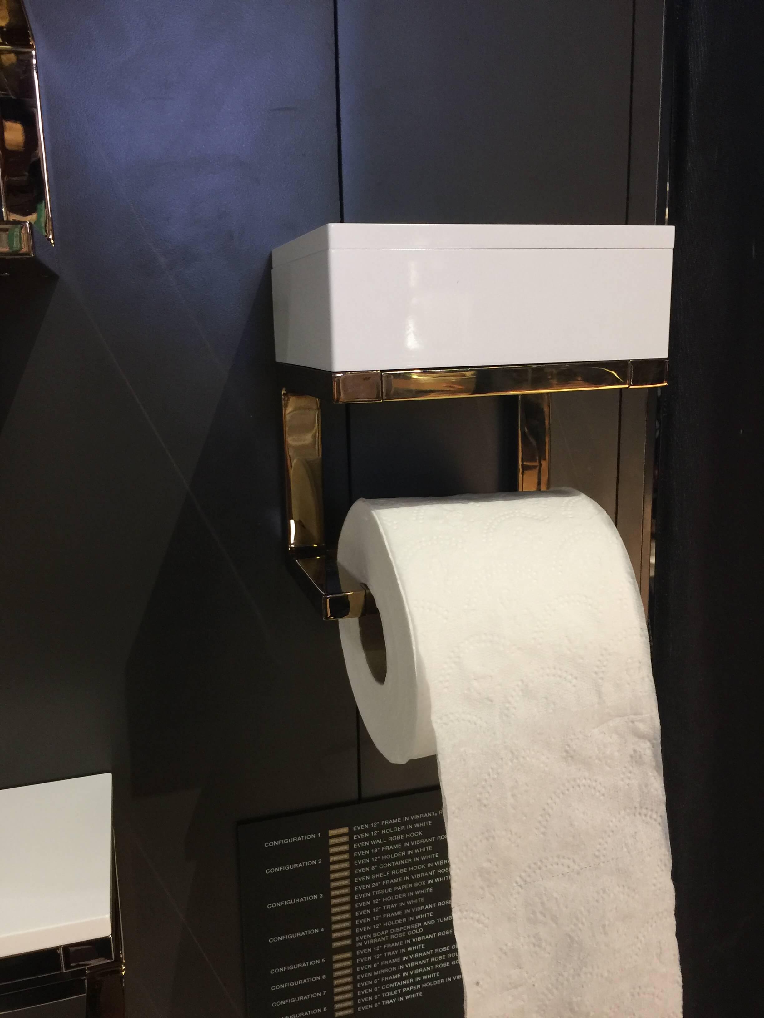 Toilet paper holder from Kohler #toiletpaperholder #bathroomaccessories