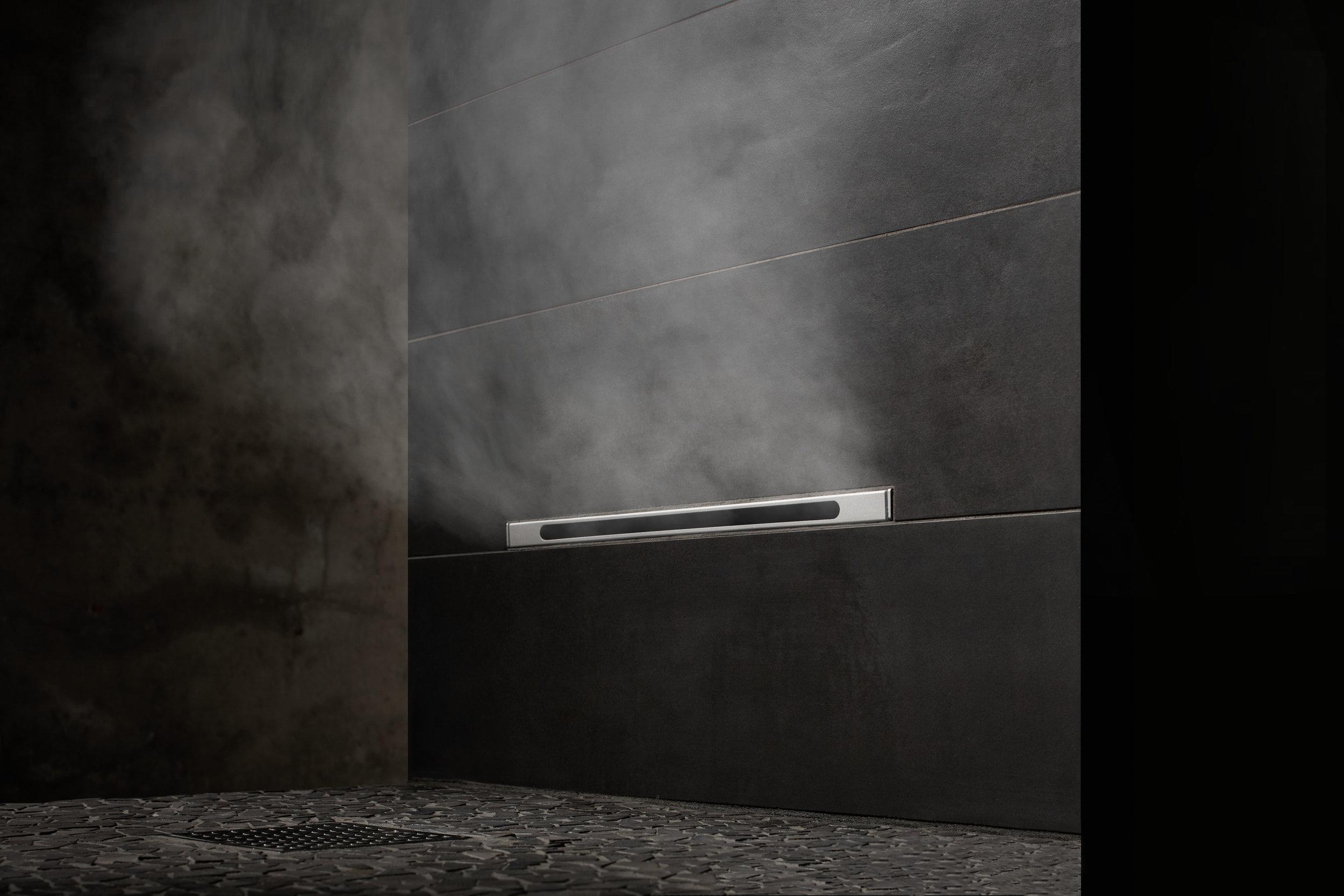 Mr. Steam steam shower, linear steamhead #steamshower