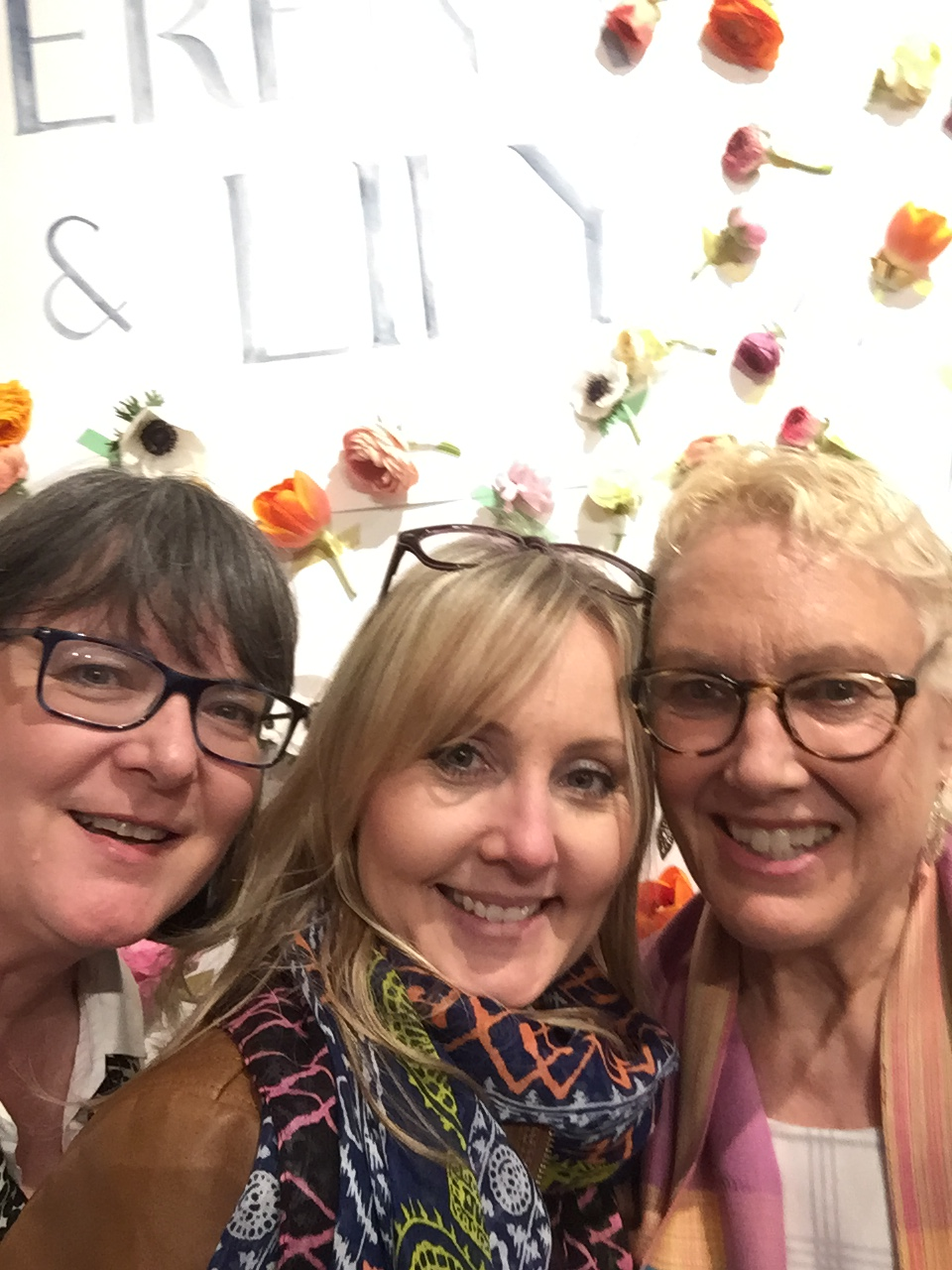 Me,  Amanda Gates  and  Linda Holt  at the Serena and Lily party, Design Bloggers Conference 2017.