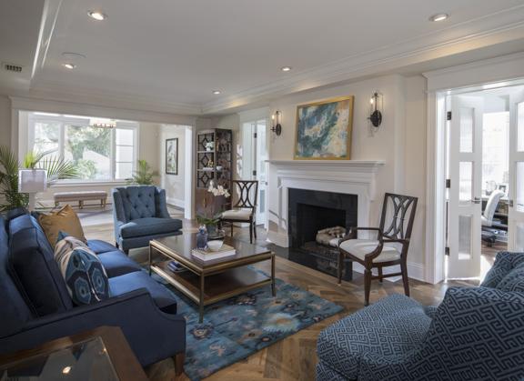 Living room of The New American Remodel, Orlando - KBIS2018 #livingroom #livingrooomideas