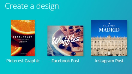 A few of the Canva templates
