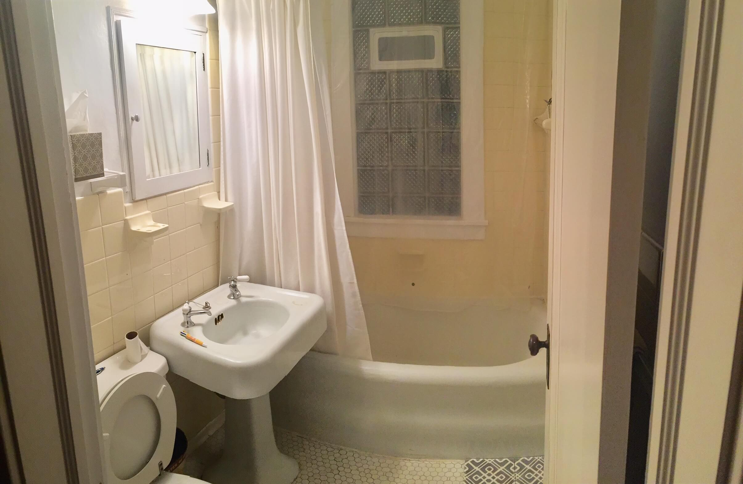 BEFORE pic of bathroom to be remodeled