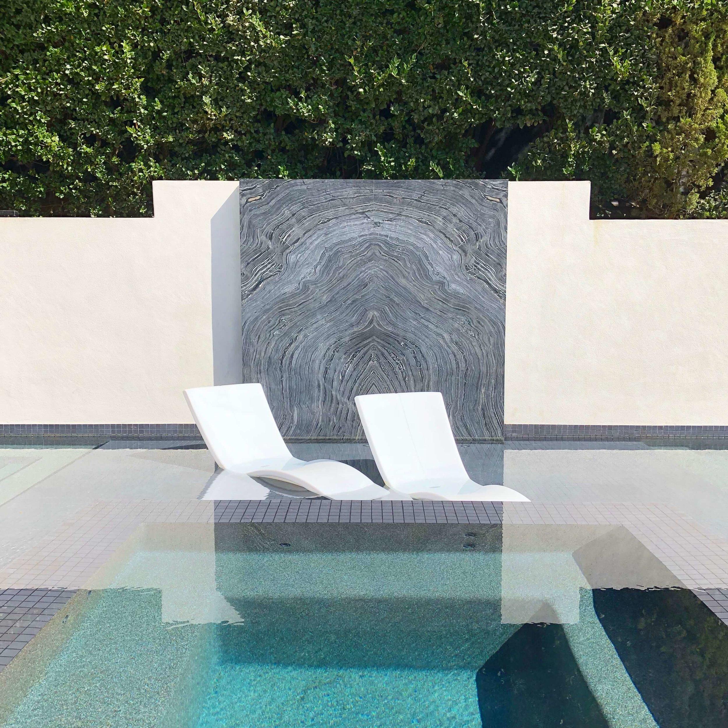Contemporary swimming pool at the Pasadena Showcase House of Design 2018, Huntington Pools