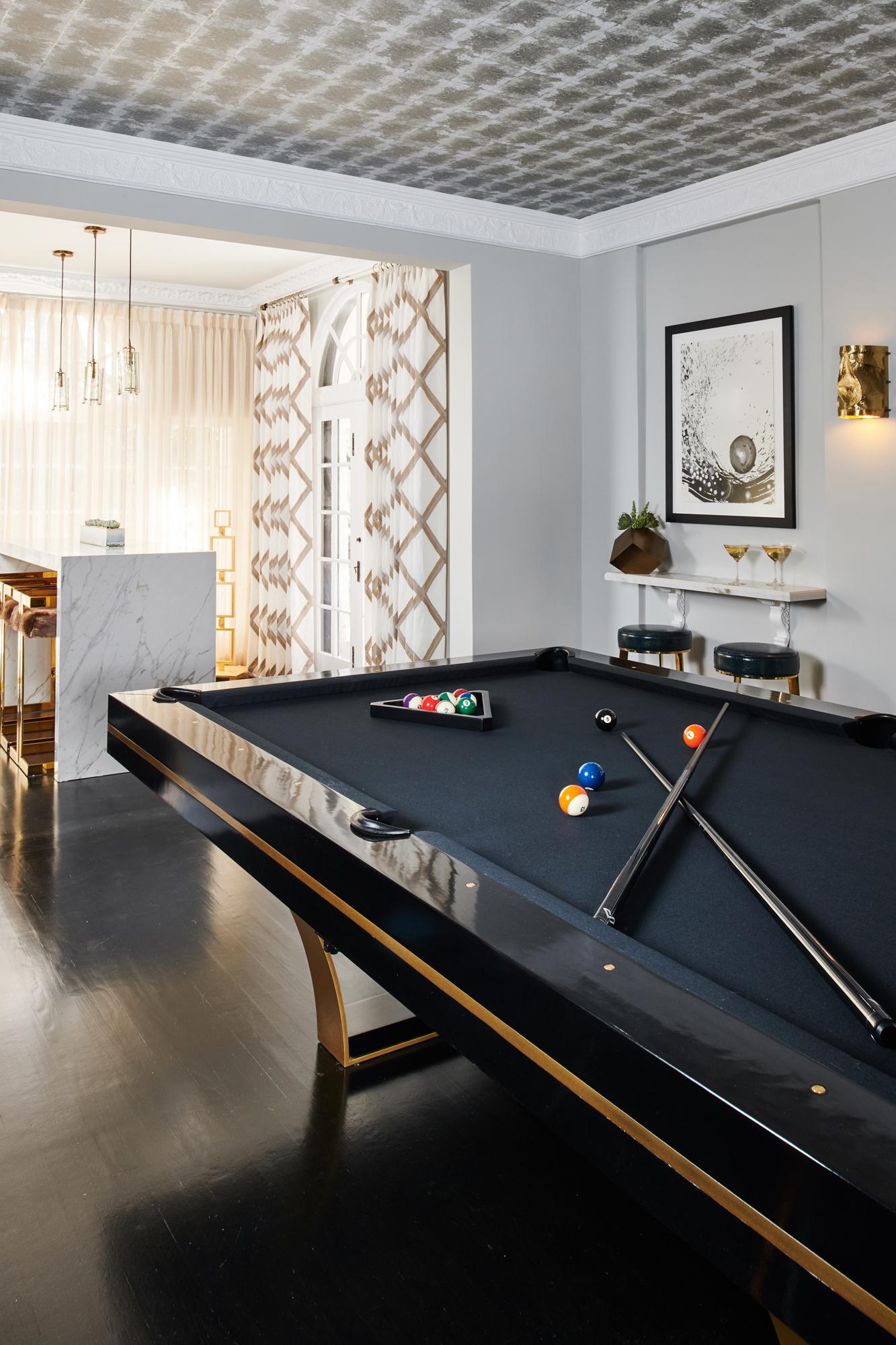 Pasadena Showcase House of Design, Billiard Room and Petite Lounge - Designer: Designs of the Interior, Photographer: Peter Christiansen Valli