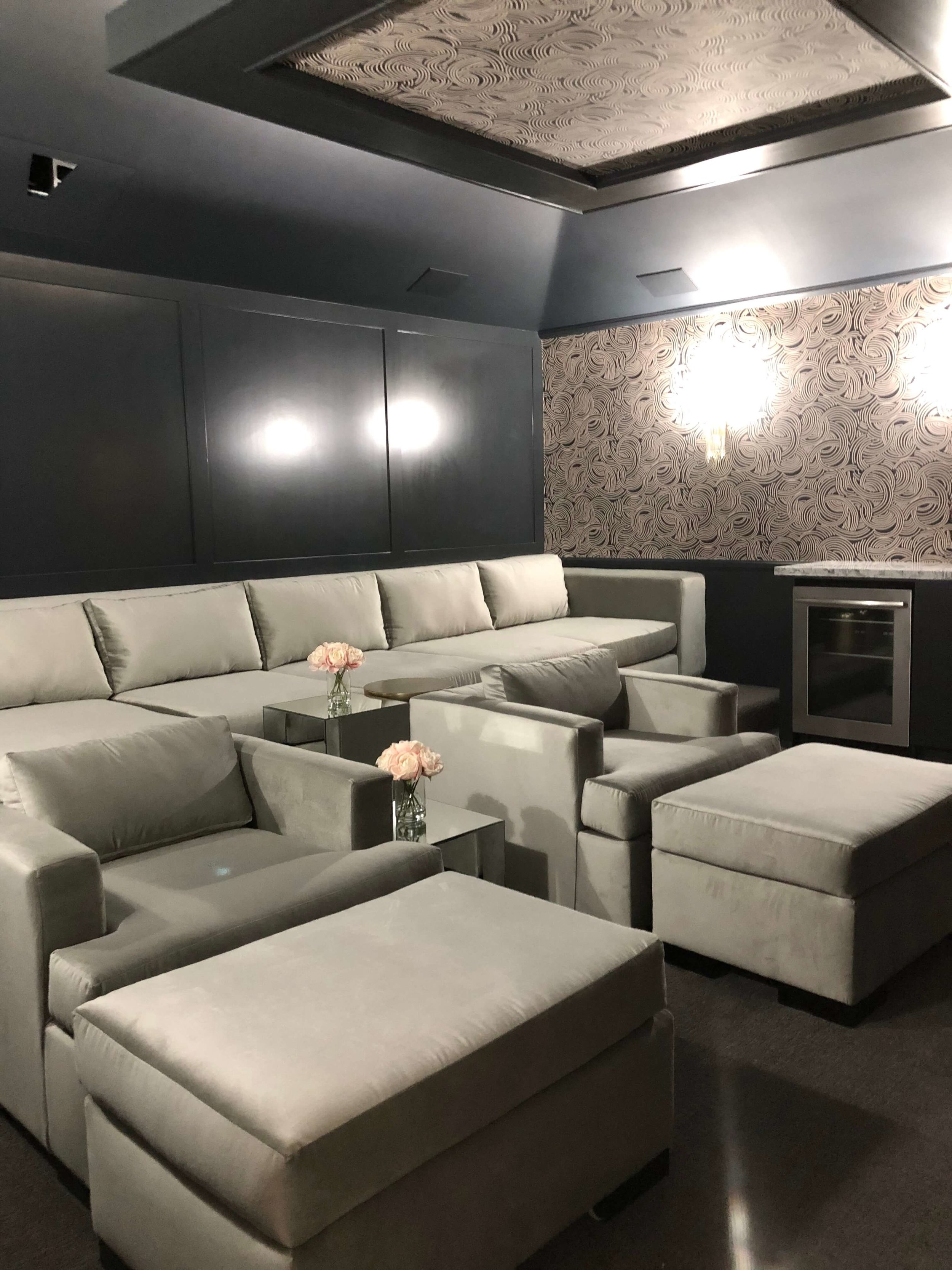Media Room designed by Janet Sanchez, JS Design+Create, Pasadena Showcase House