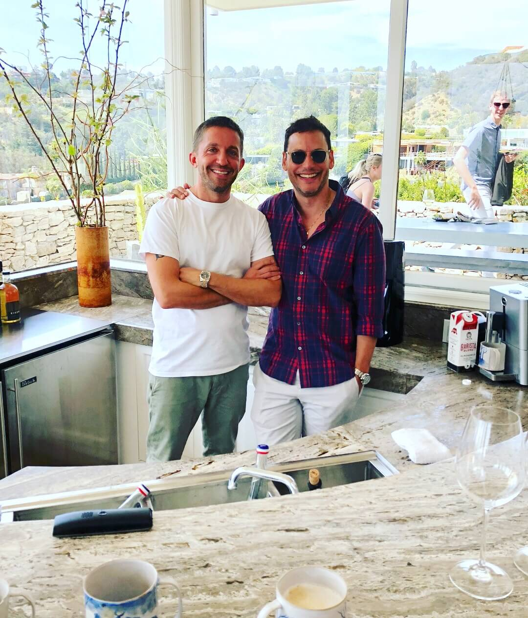 The creative entrepeneur, David Alhadeff and his partner, were our gracious hosts at Casa Perfect. #bar #sunkenbar #midcenturymodern
