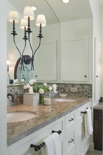 11 Simple DIY Ways To Make Your Small Bathroom Look BIGGER | Designer: Carla Aston, Photographer: Miro Dvorscak