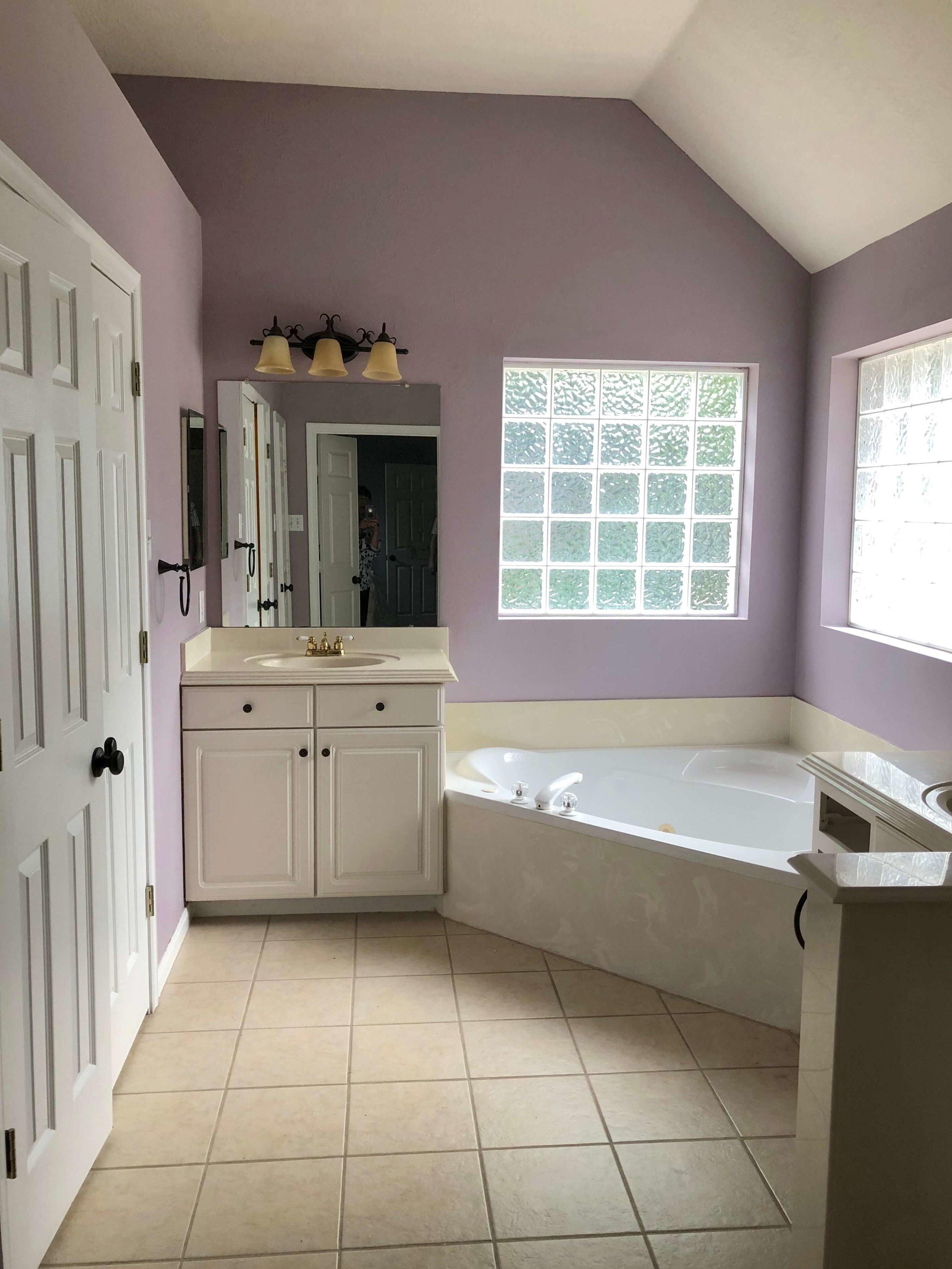 BEFORE - Bathroom remodel with corner tub