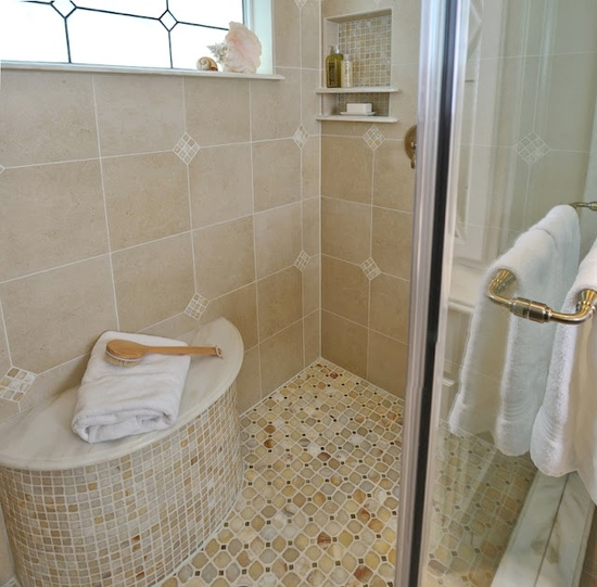 25 Beautiful Shower Niches For Your Beautiful Bath Products, Designer: Carla Aston, Photographer: Miro Dvorscak #shampooniche #showerniche