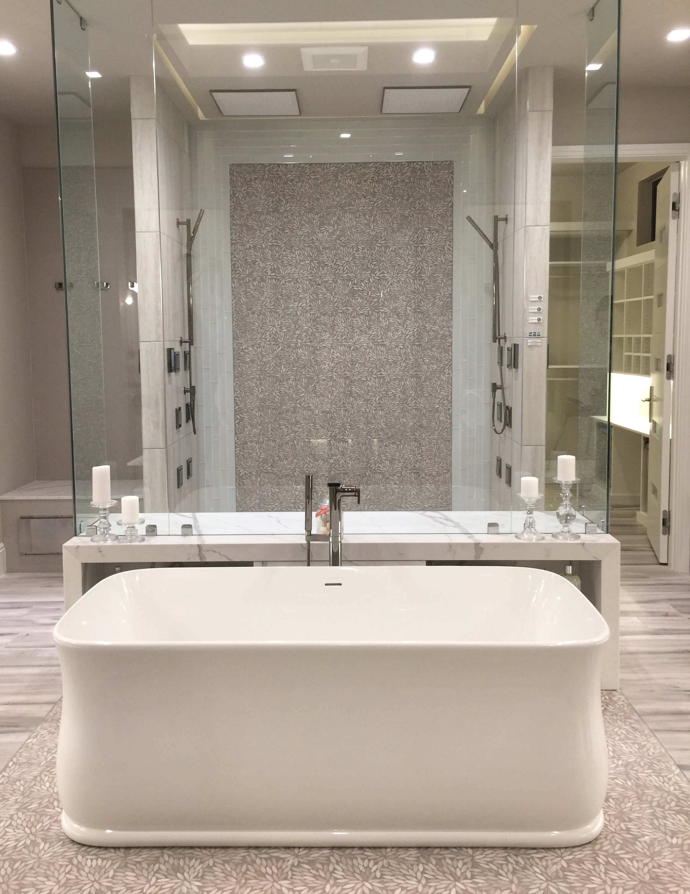 Large shower from  The New American Home - KBIS 2018