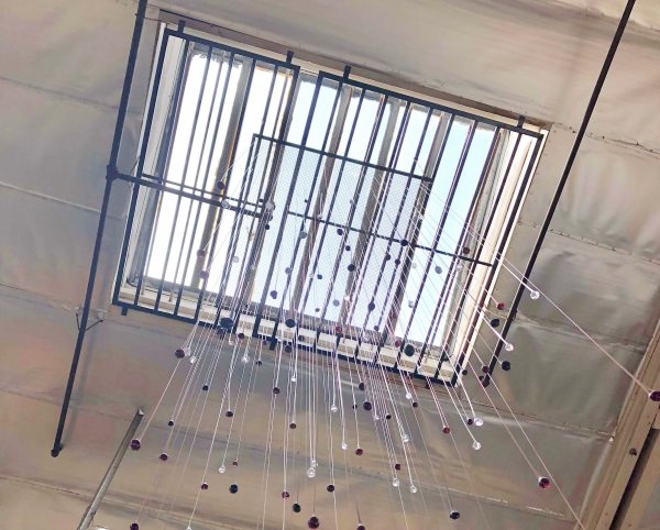 Industrial #skylight with glass crystals seen on the LA Design Trail at  Neptune Glassworks