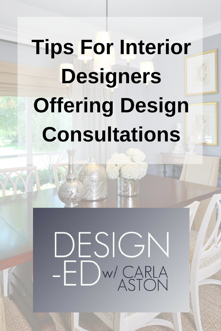 Lots of tips, advice and examples here for offering the one-time design consultation.