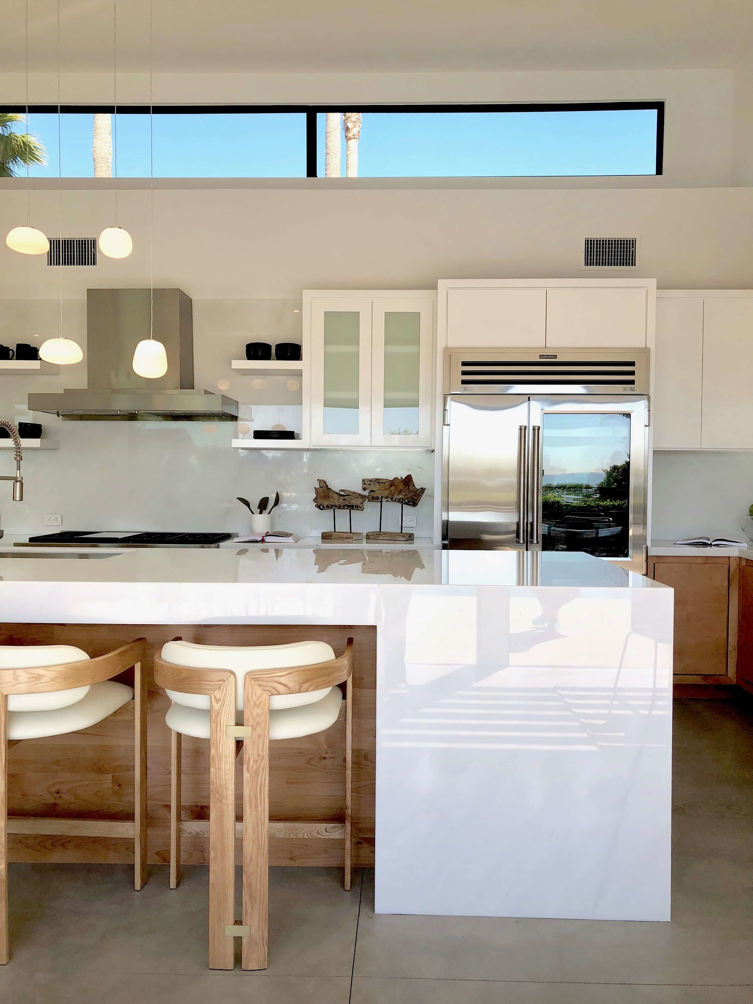 Why Thick Countertops Make a Strong Design Statement | Designer: Vitus Mitare, See more about this  contemporary home here.  #kitchendesign #kitchencountertops