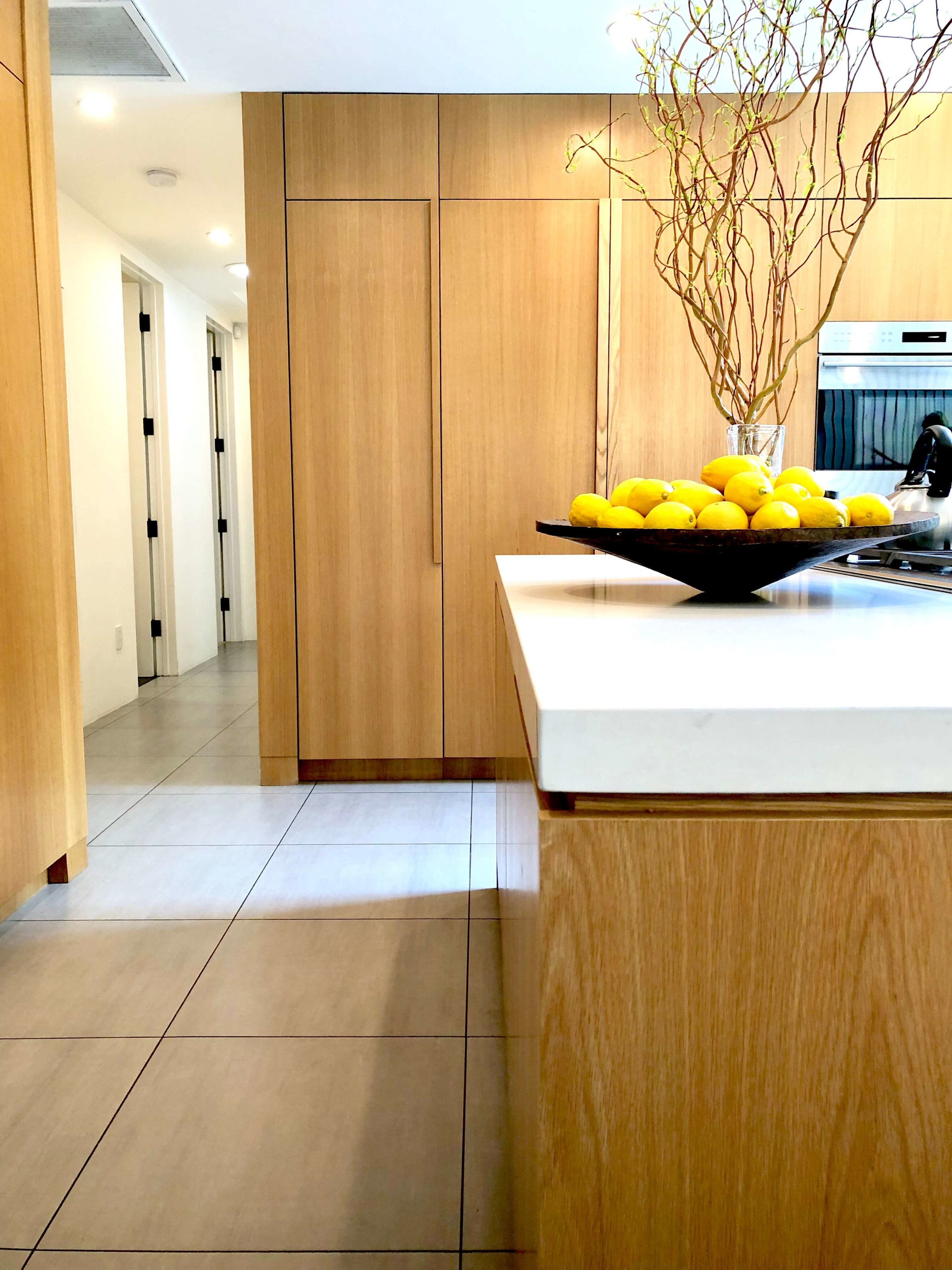 Thick kitchen countertops | Assembledge Architects | See more about this  contemporary home here.  #kitchendesign #kitchencountertops