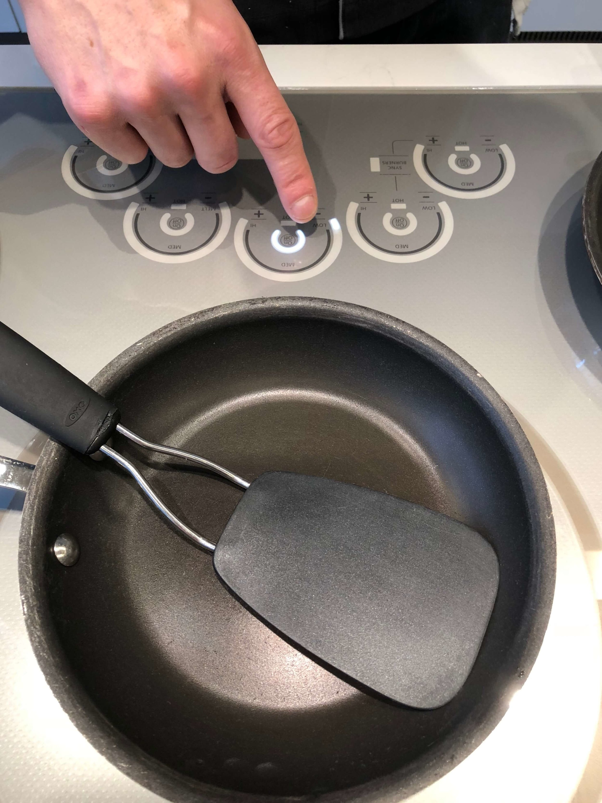 Controls on the induction cooktop of Monogram Appliances #inductioncooktop #monogramappliances #cooktop #inductioncooking