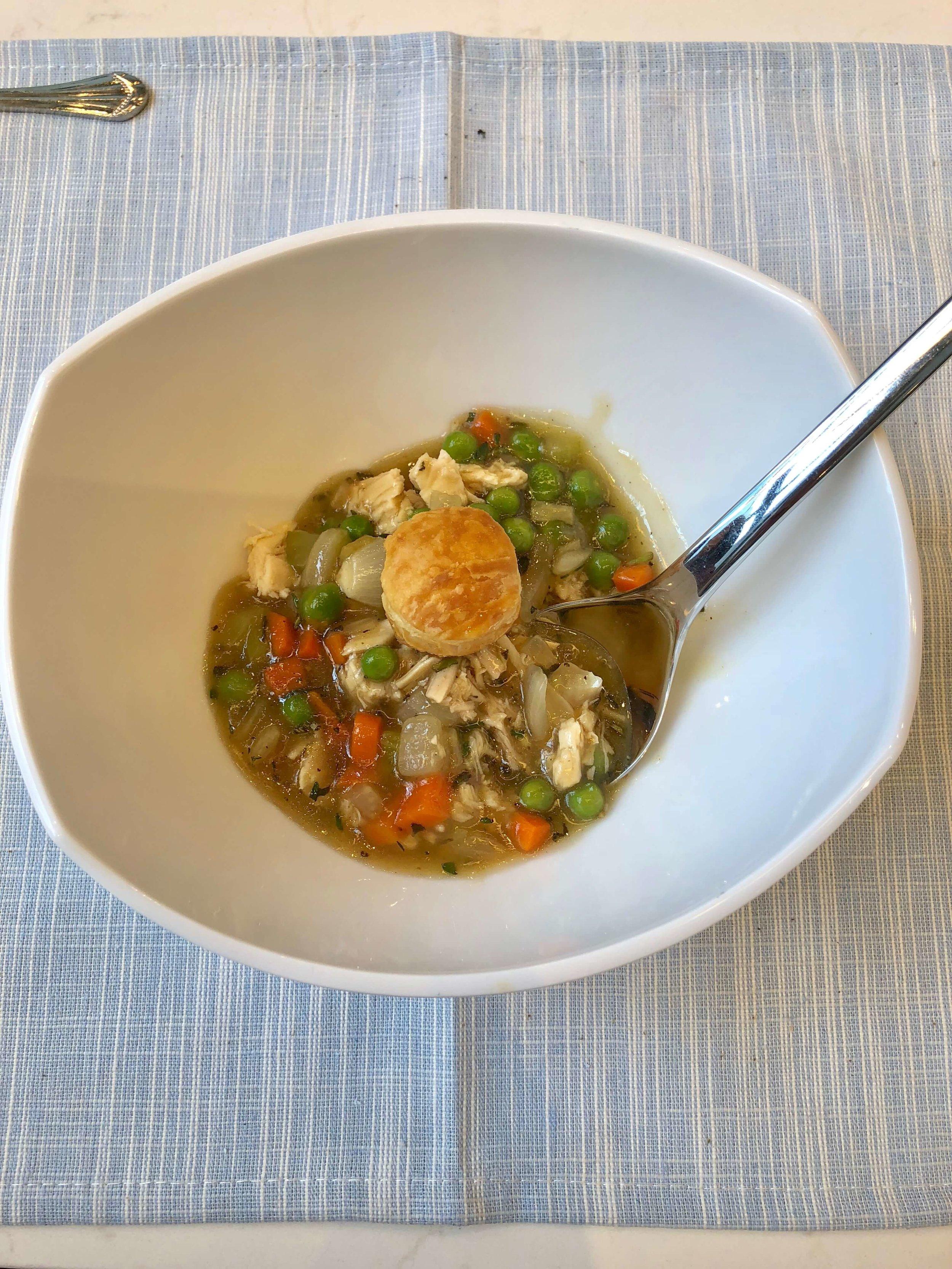 Yummy chicken stew from Chef Jon at the Monogram Appliances Showroom in Chicago #monogramappliances