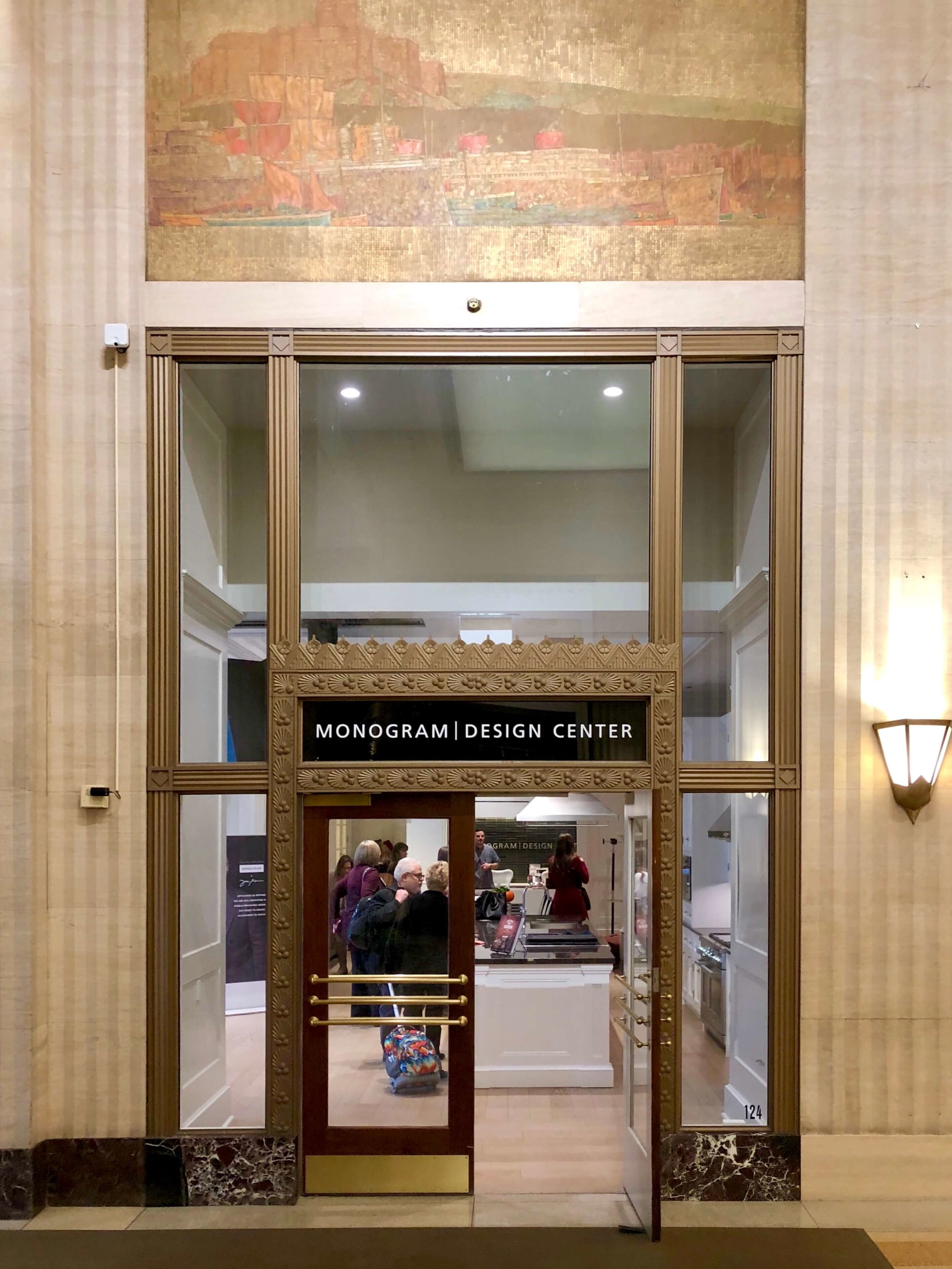 Monogram Design Center showroom in The Merchandise Mart, Chicago. Thanks to Monogram for this lovely trip and experience!