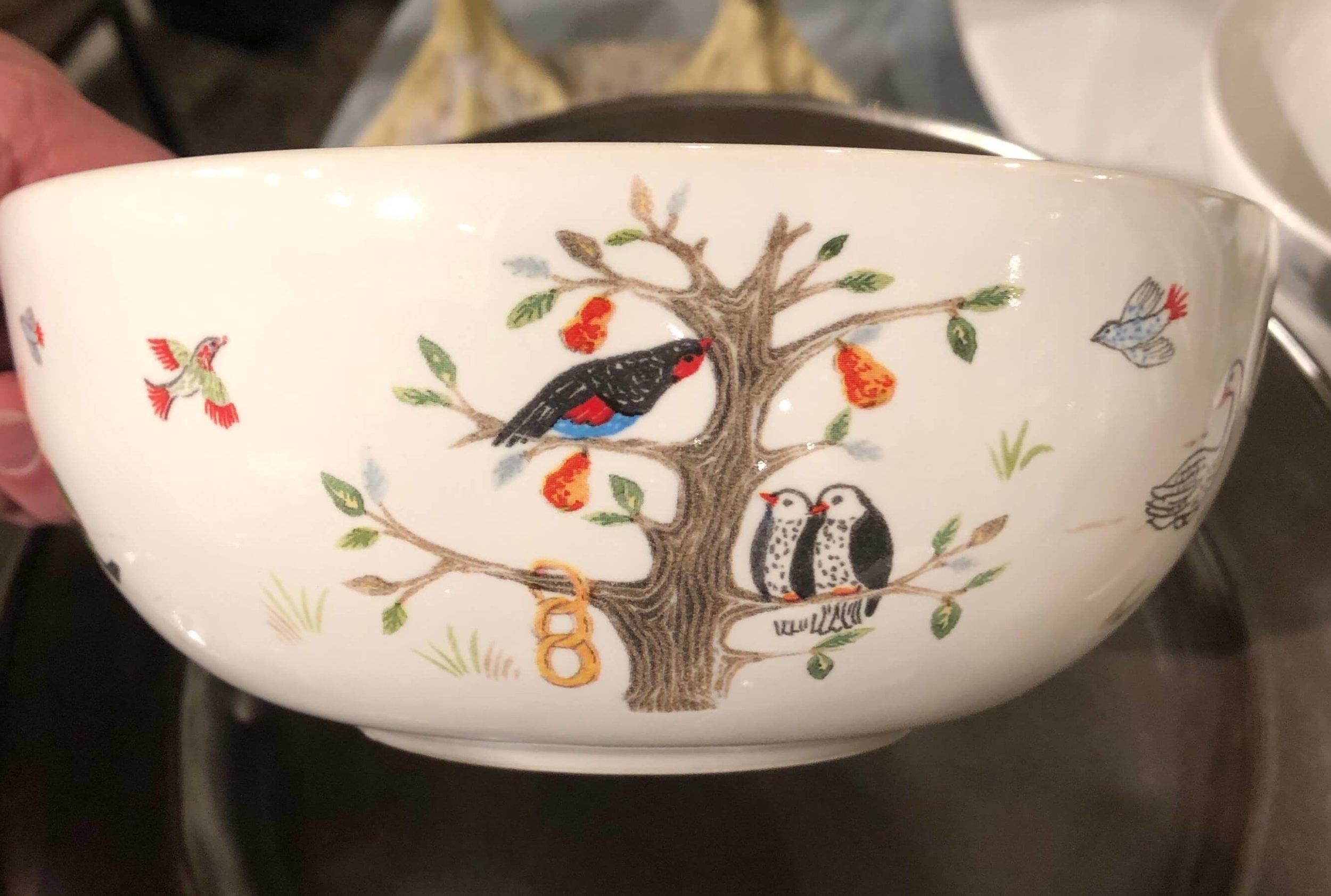 Juliska bowl 12 days of Christmas
