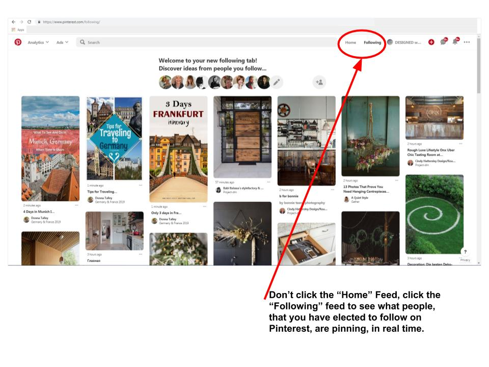 Pinterest feed graphic