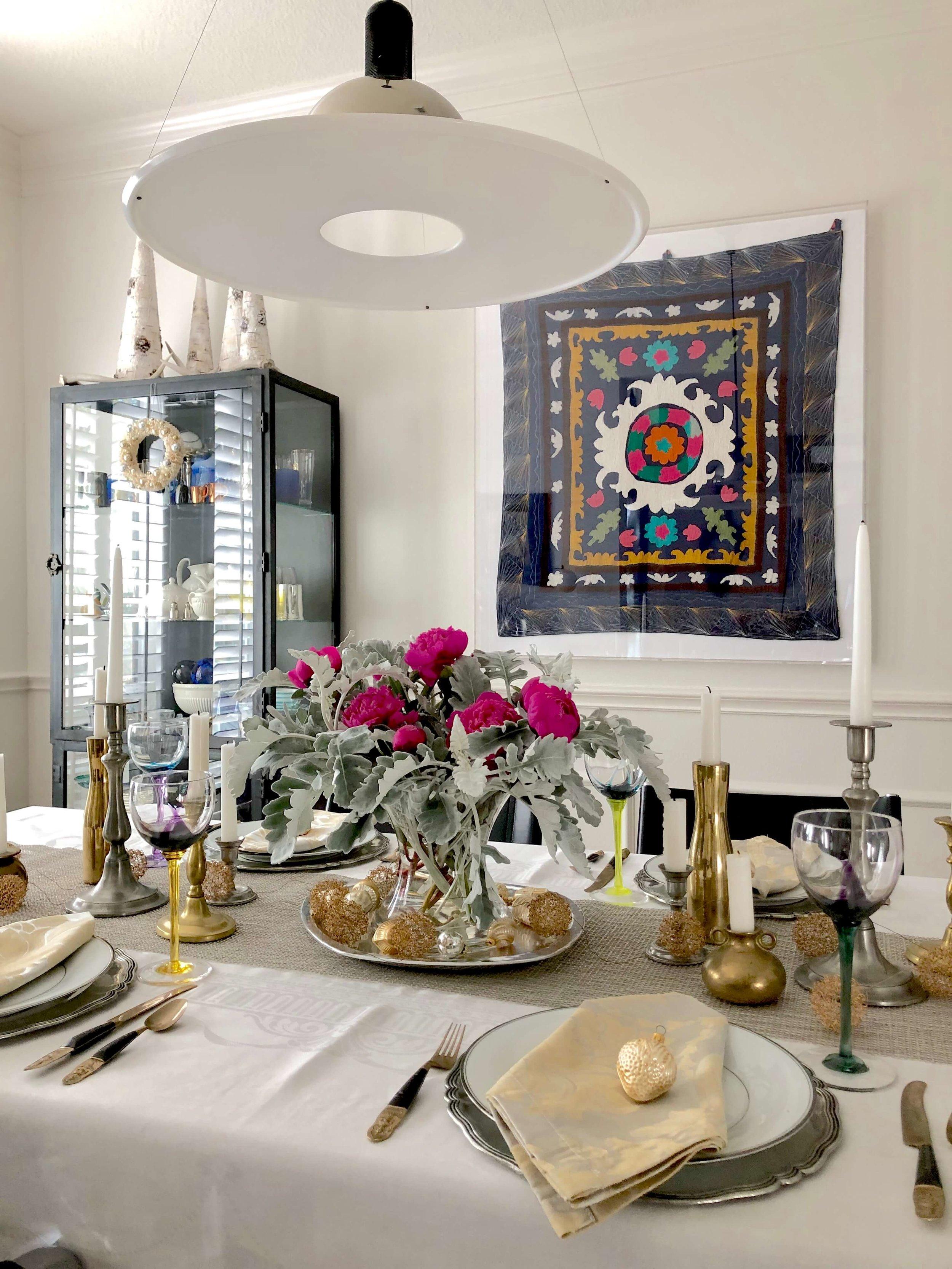 Tabletop with trending taper candles | Carla Aston Interior Designer, Tori Aston Photographer #tapercandles #candlesticks #interiordesigntrends #trending