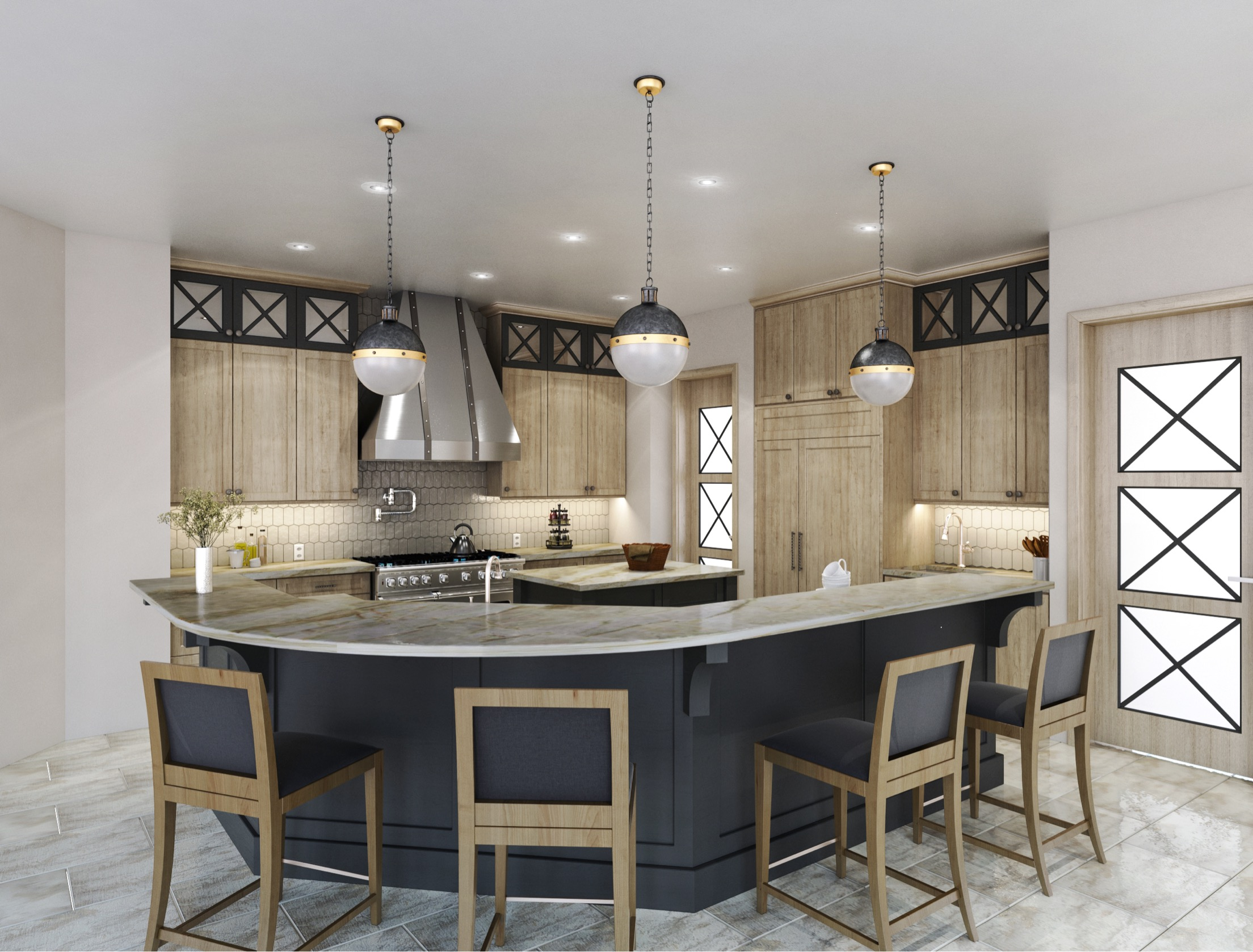 Proposed Kitchen Design - Carla Aston, Designer | #kitchendesign #kitchenideas #woodkitchen