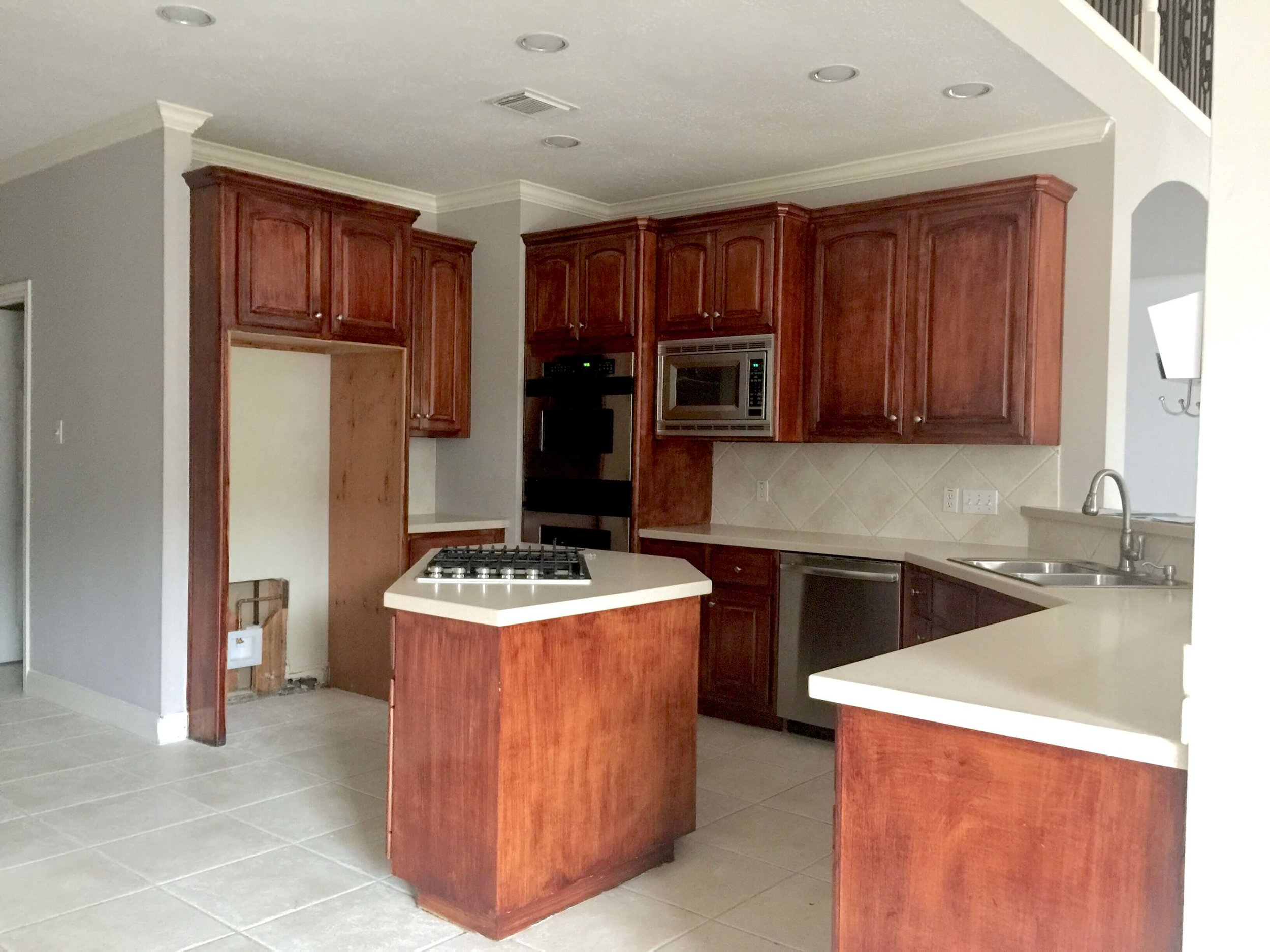 BEFORE - Kitchen Remodel with wonky island