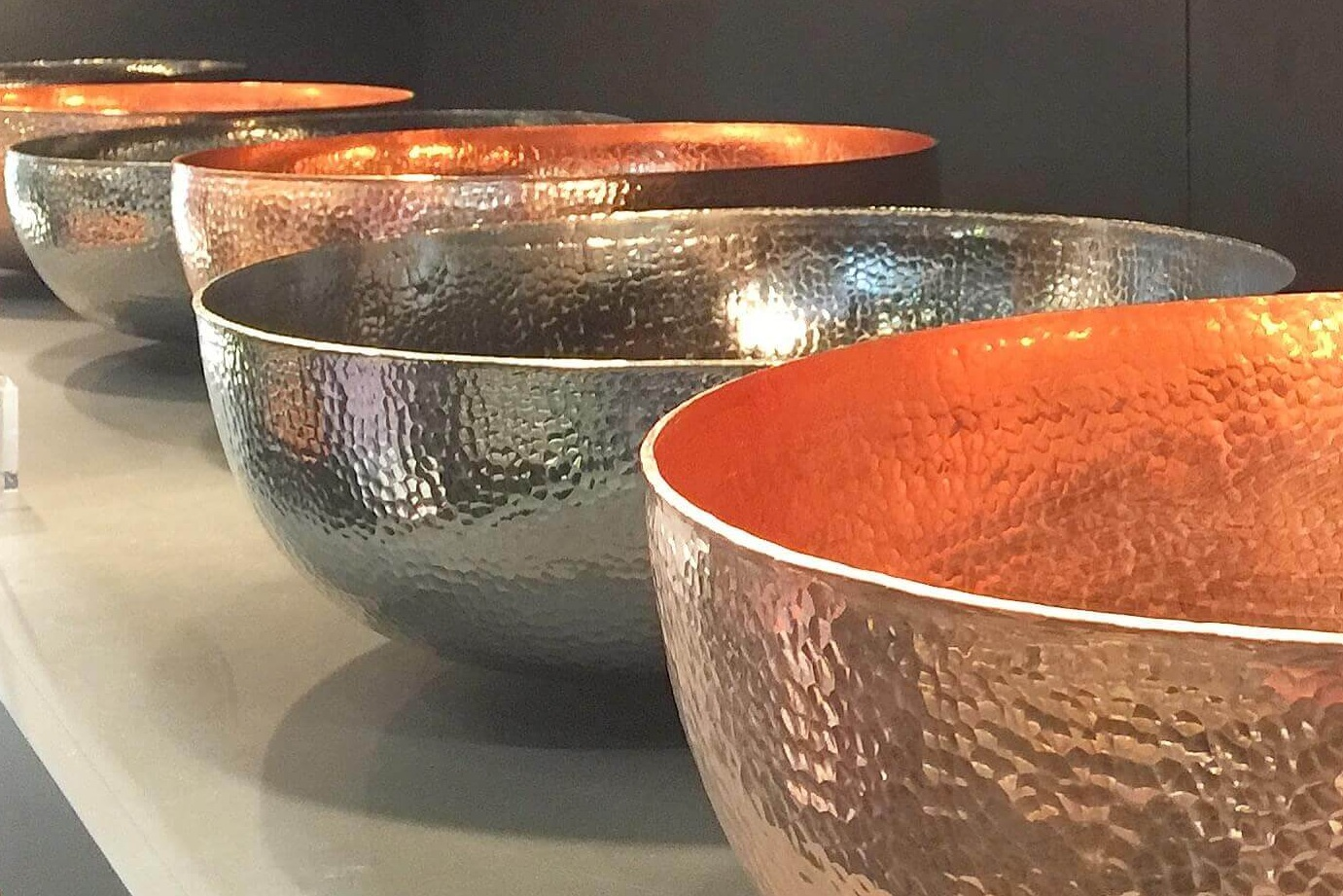 Native Trails hammered metal sinks - KBIS, Kitchen and Bath Industry Show