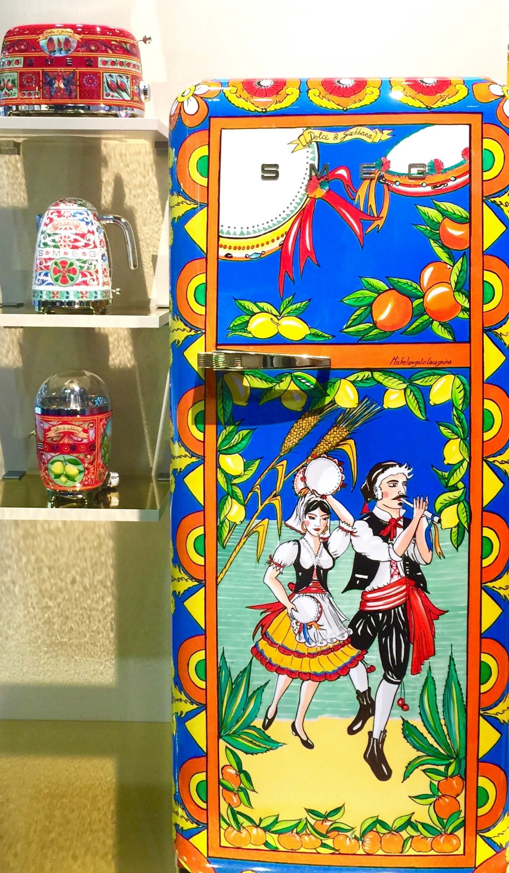 Smeg Fridge, by Dolce and Gabbana - KBIS, Kitchen and Bath Industry Show