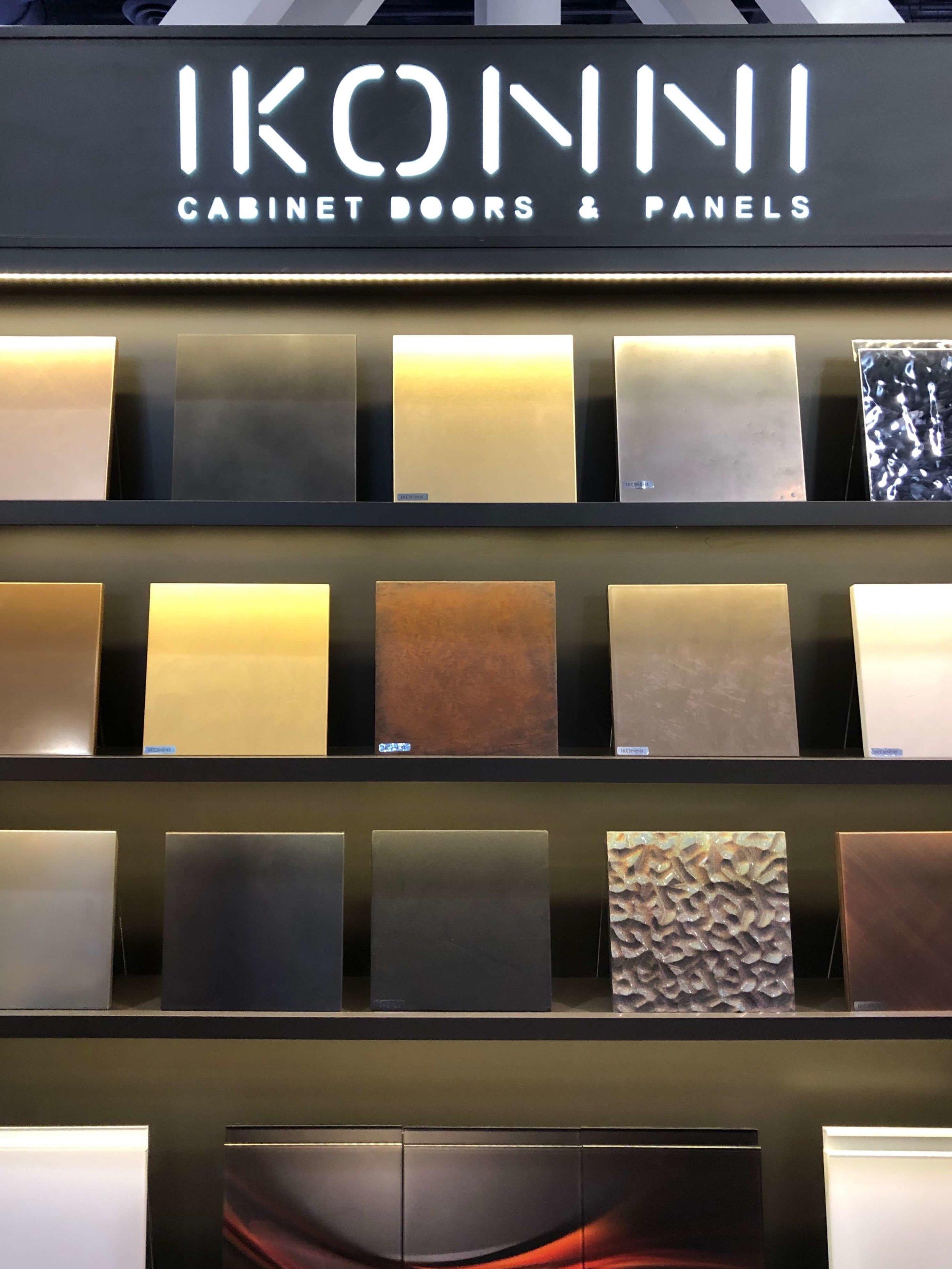 Metal cabinet door options | KBIS 2019 Surfaces Trends
