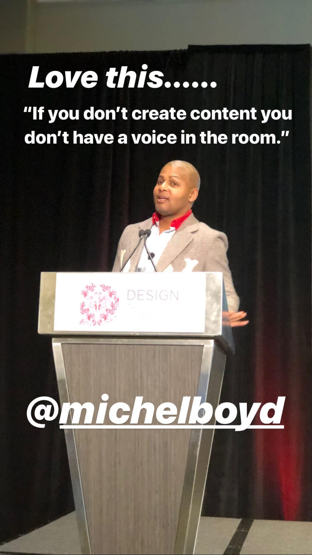 Michel Boyd Design Influencers Conference Speaker