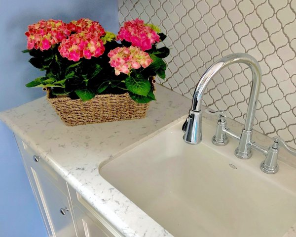 Pretty laundry room in periwinkle blue   Carla Aston, Designer