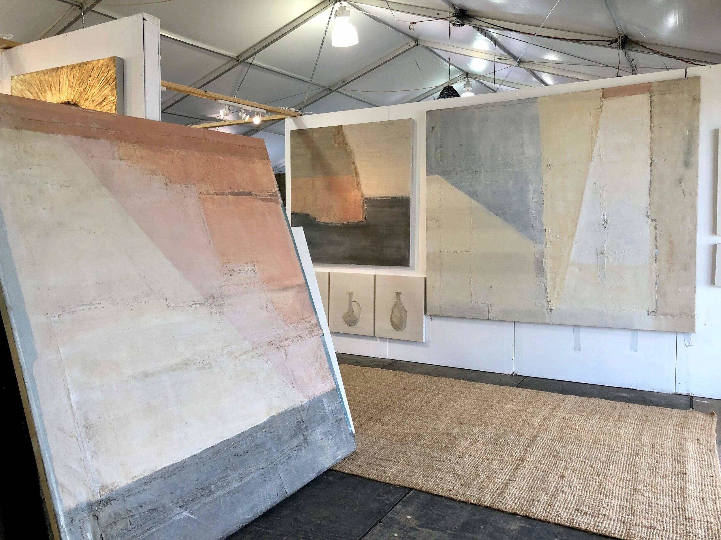 Large canvases of soft color, Artist, Paul Myers Studio | The Arbors, Round Top Antique Fair