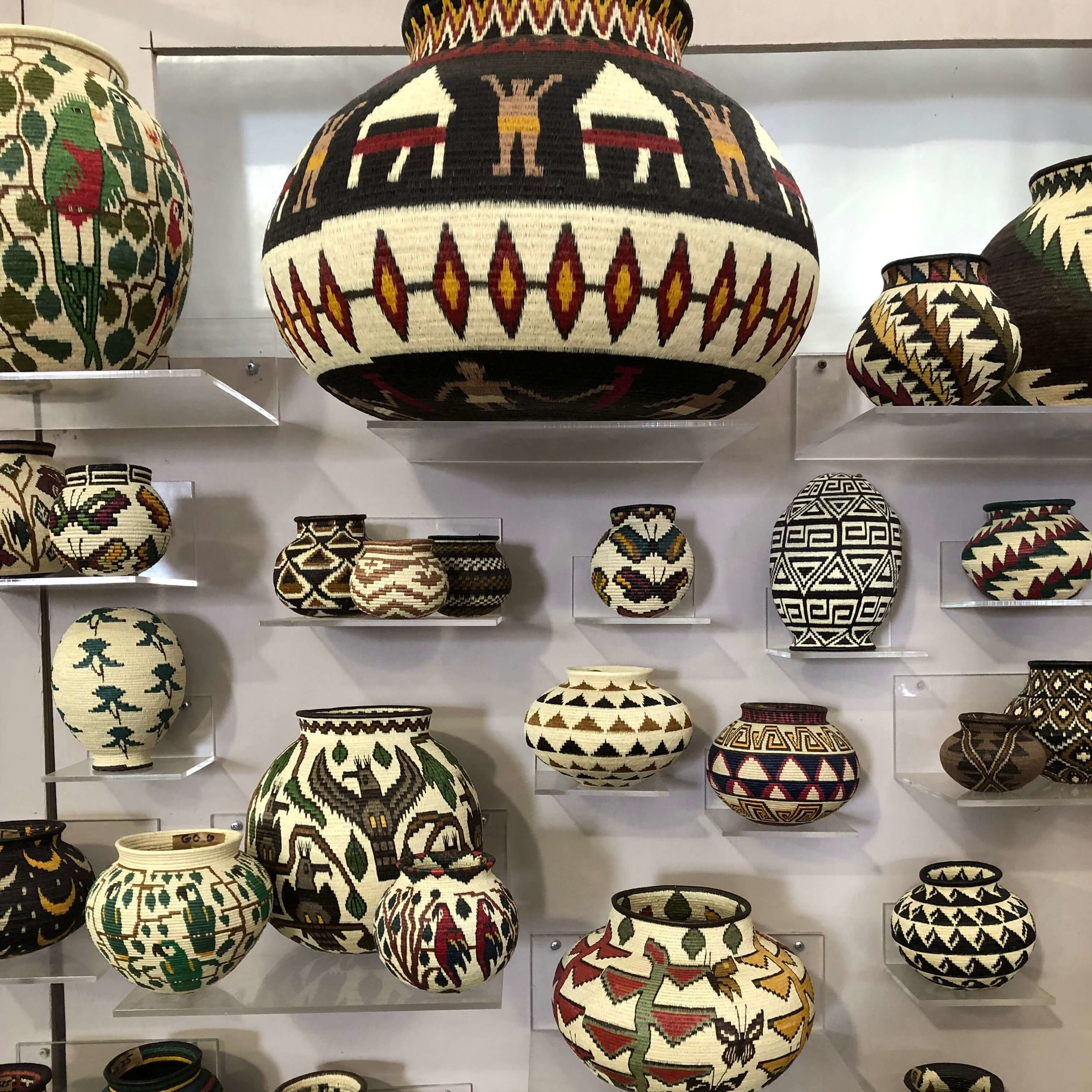 Woven pots | The Arbors, Round Top Antique Fair