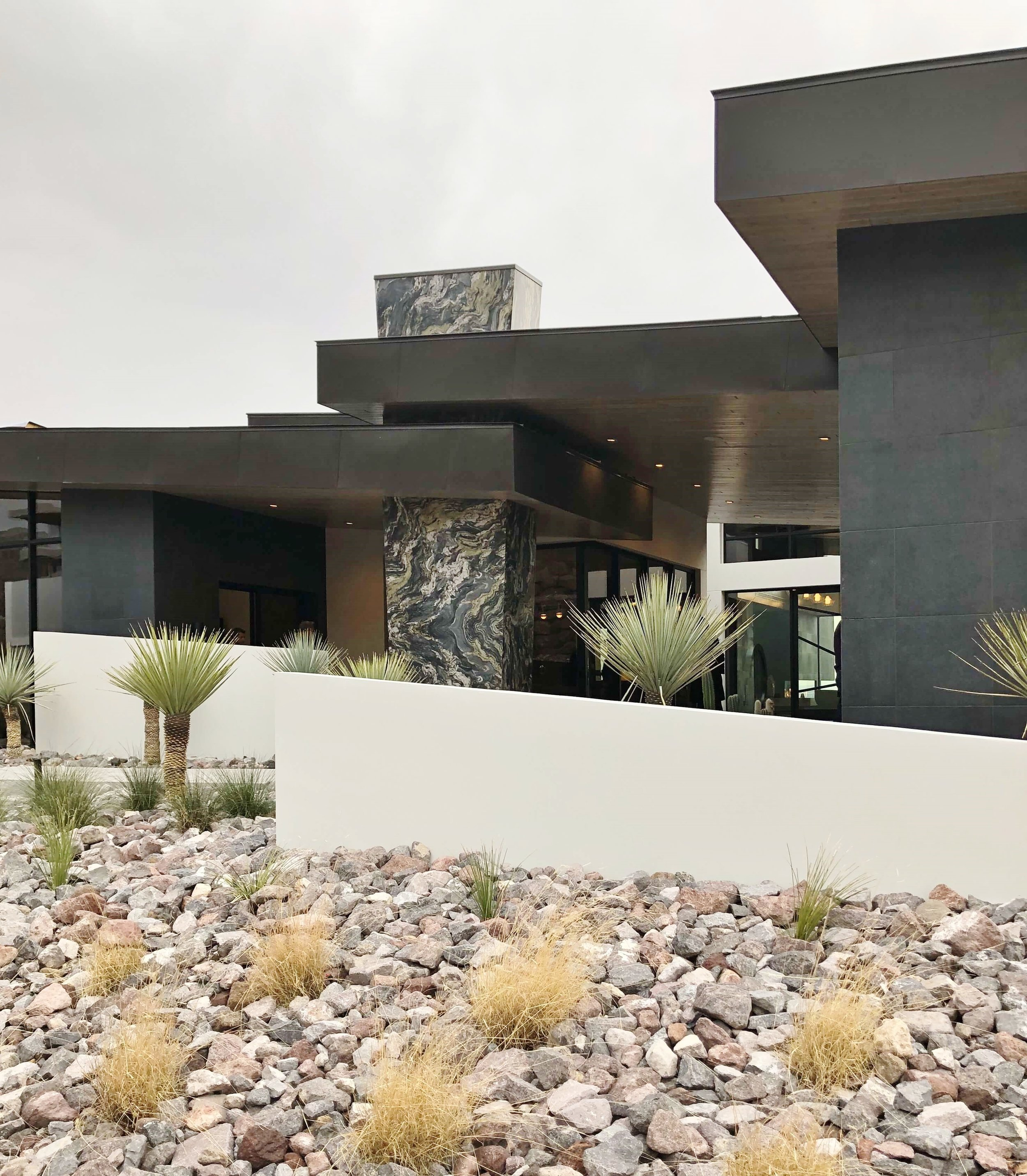 Front Exterior, The New American Home Tour 2019 | Designed and built by Sun West Custom Homes  #contemporaryhome #blackhouses