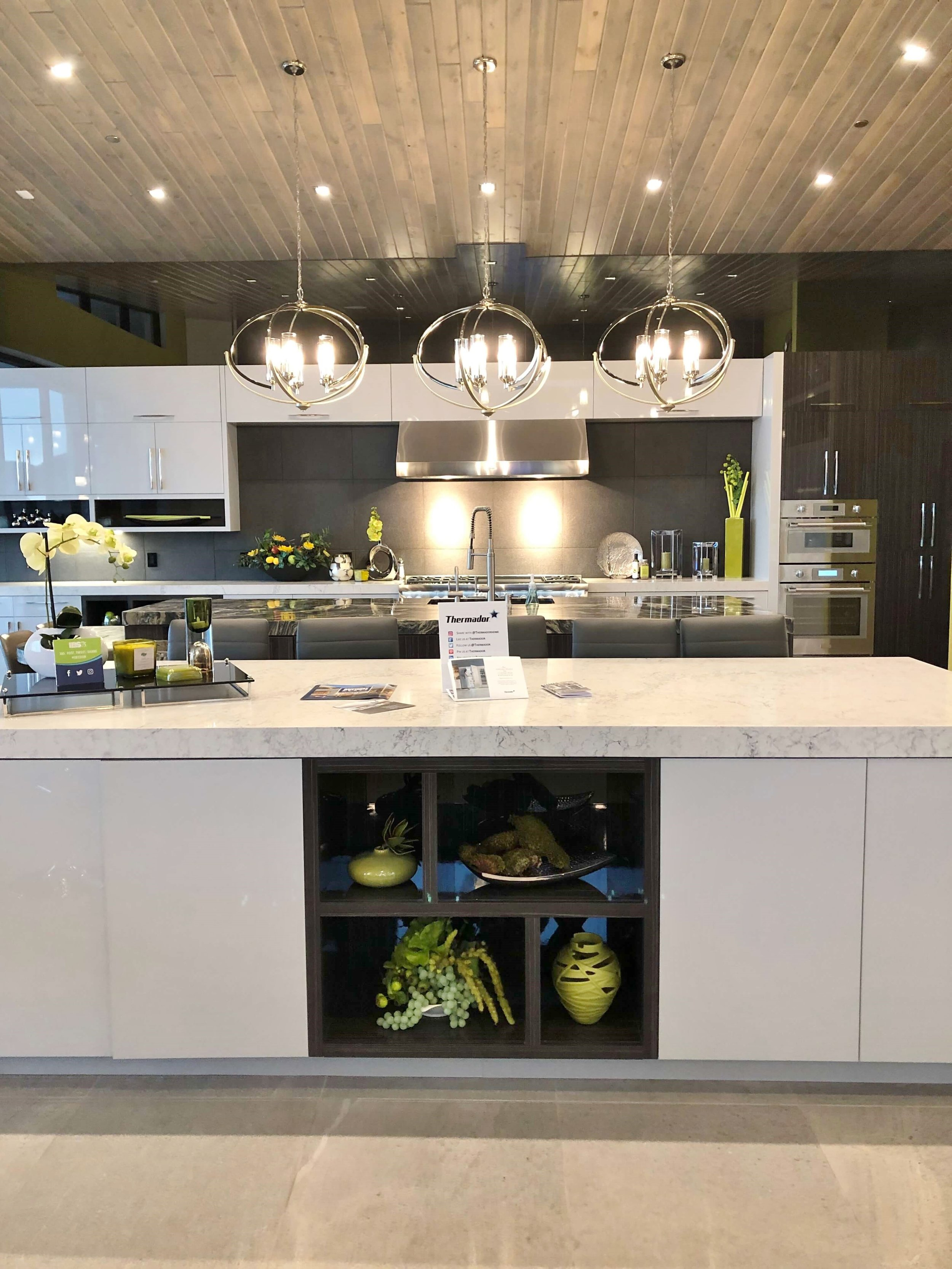 Contemporary kitchen w/ 2 islands, The New American Home Tour 2019 | Designed and built by Sun West Custom Homes  #contemporaryhome #kitchen