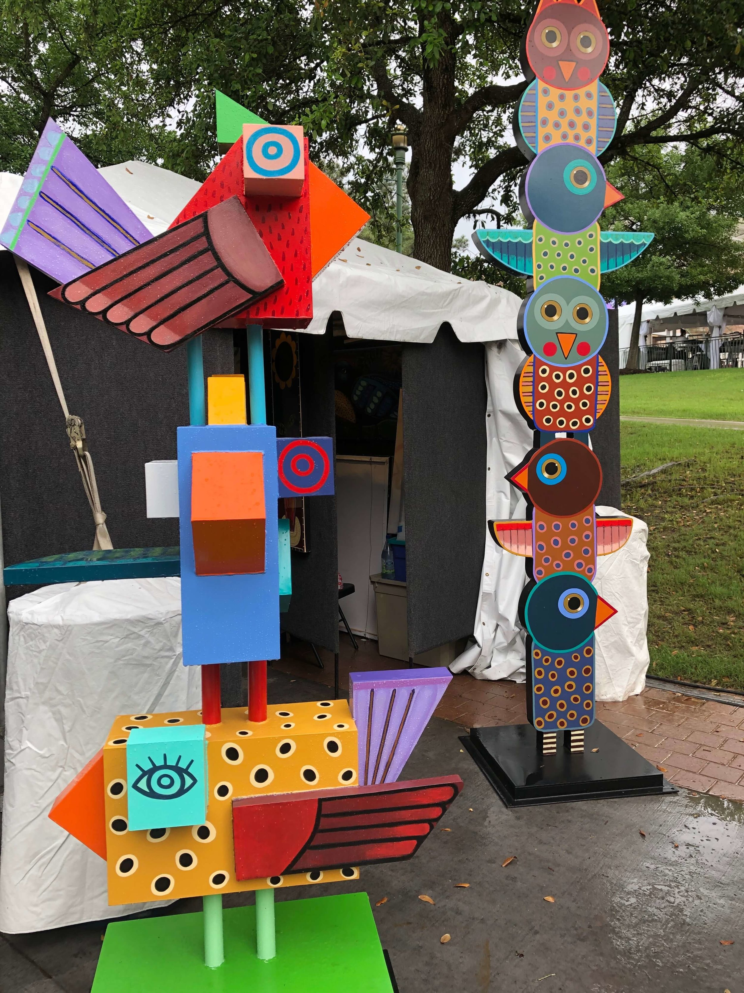 Artwork of artist, Terrell Powell, seen at The Woodlands Waterway Art Festival