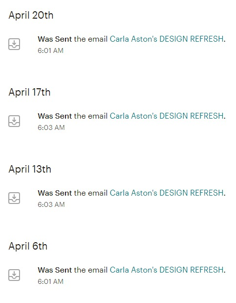 Here is what comes up under a typical two-star rated email address in Mailchimp. No opens, no click throughs. :-(