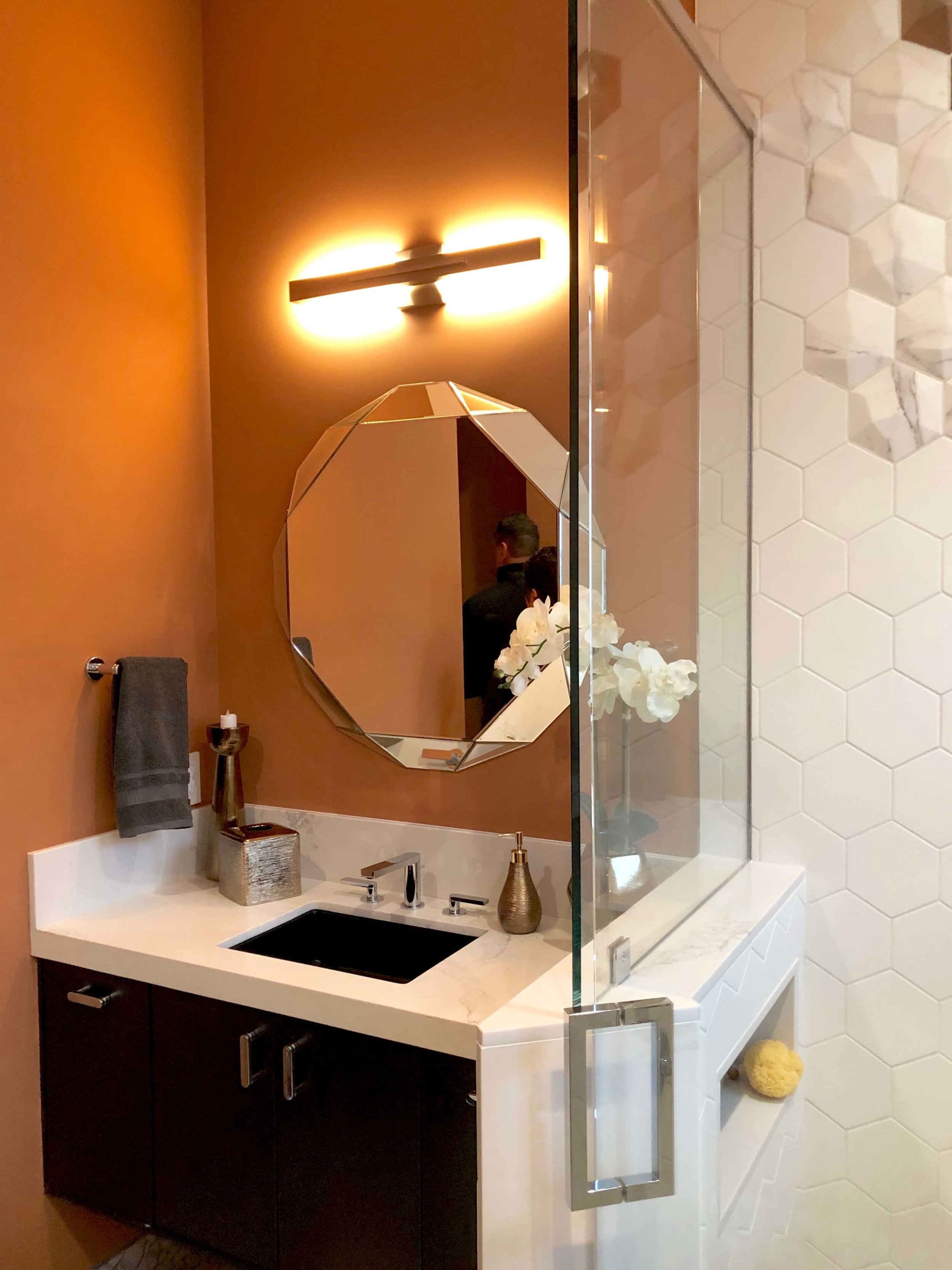 Guest Bathroom, The New American Home Tour 2019 | Designed and built by Sun West Custom Homes  #contemporaryhome #bathroom