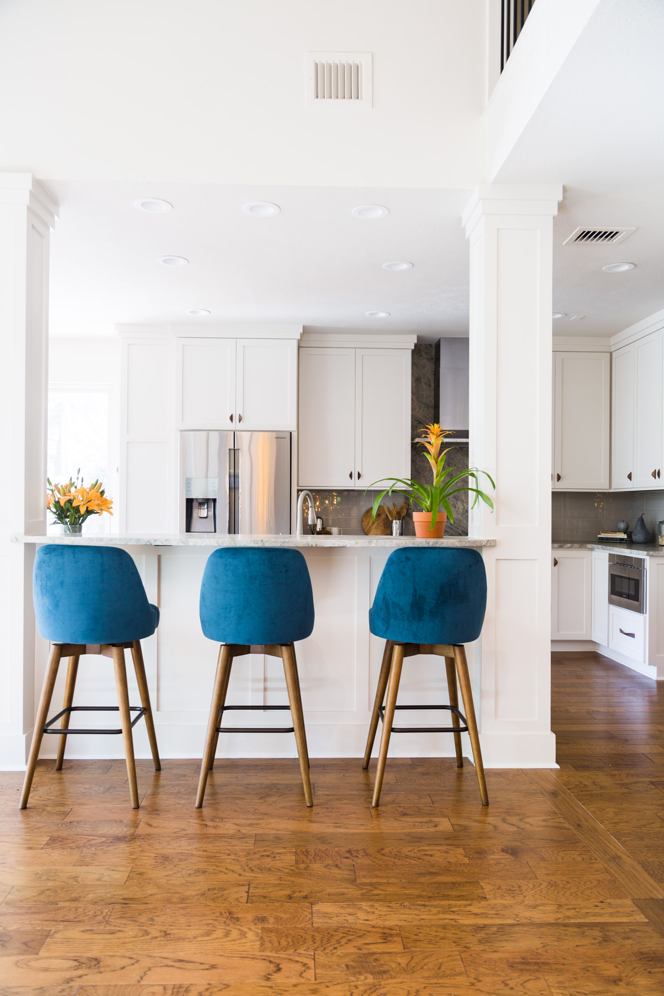 White kitchen remodel | Carla Aston, Designer | Tori Aston, Photographer #whitekitchen #whitepaintcolor #paintcolor