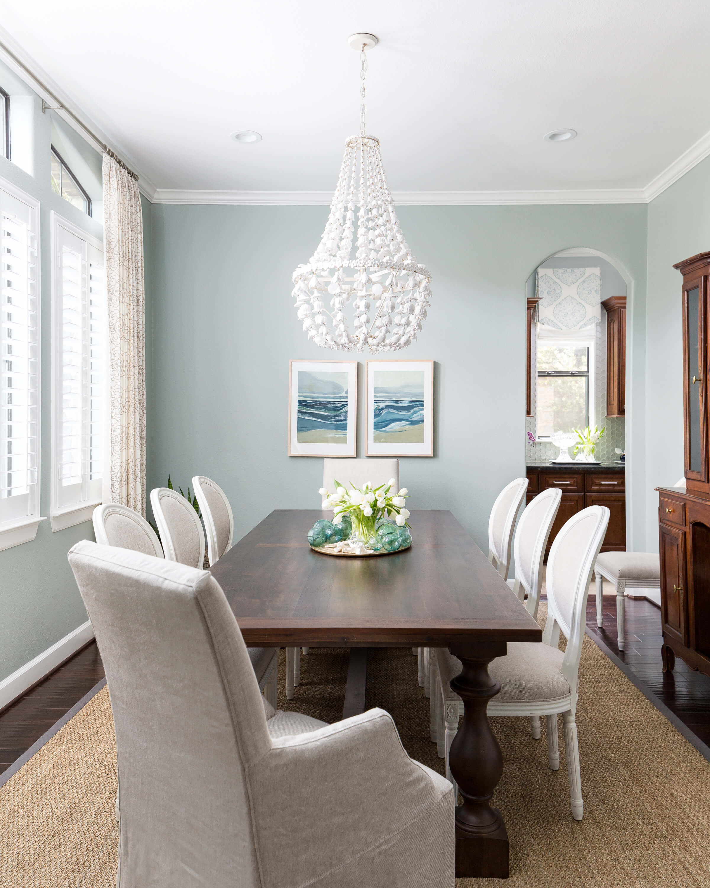 Dining Room Makeover: A Coastal Style Dining Room And Foyer