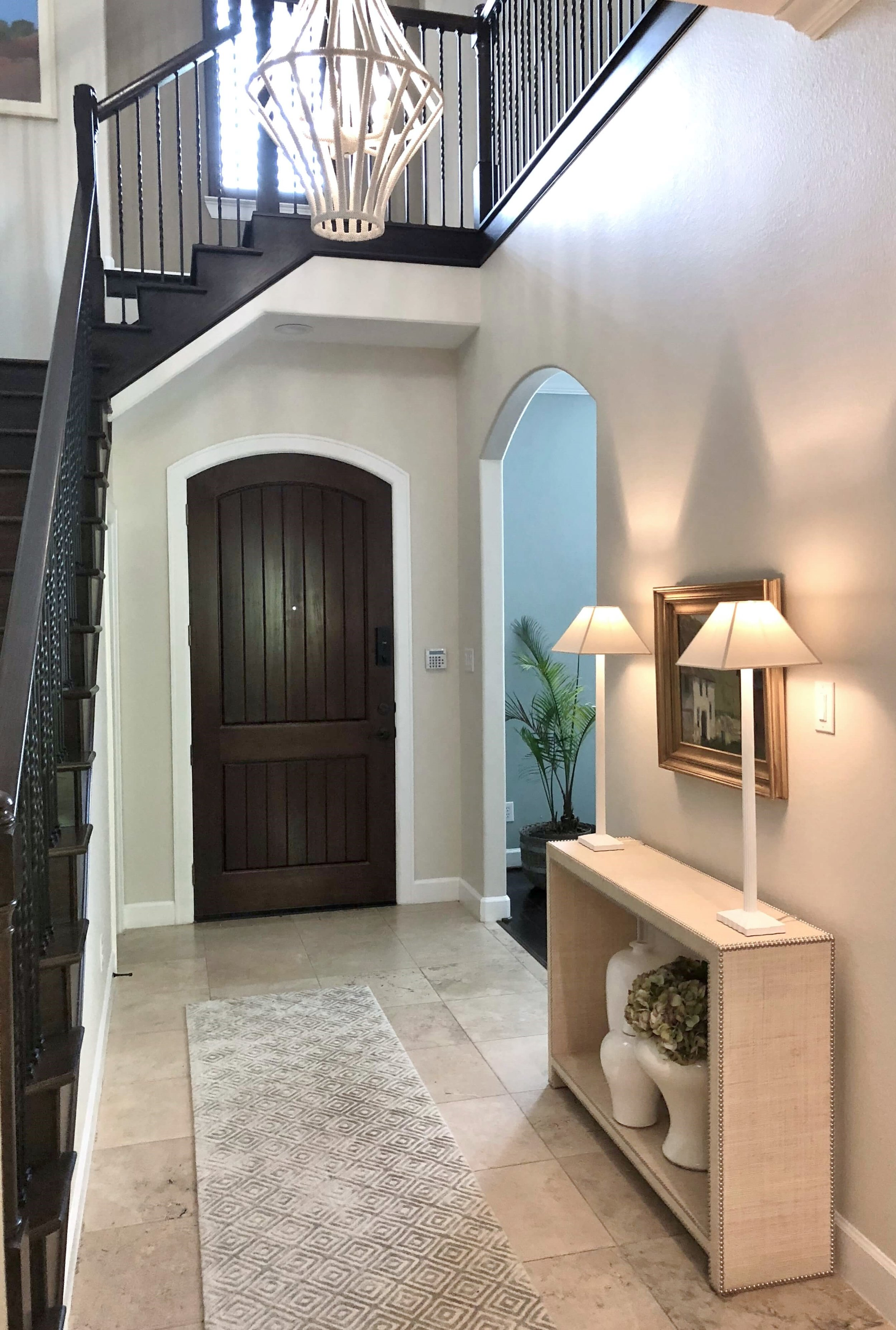 Before And After A Coastal Style Dining Room And Foyer